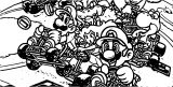 Mario Kart Header Coloring Page
