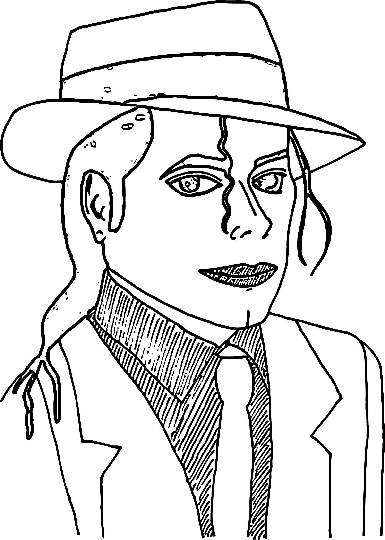 Michael Jackson Coloring Page 32