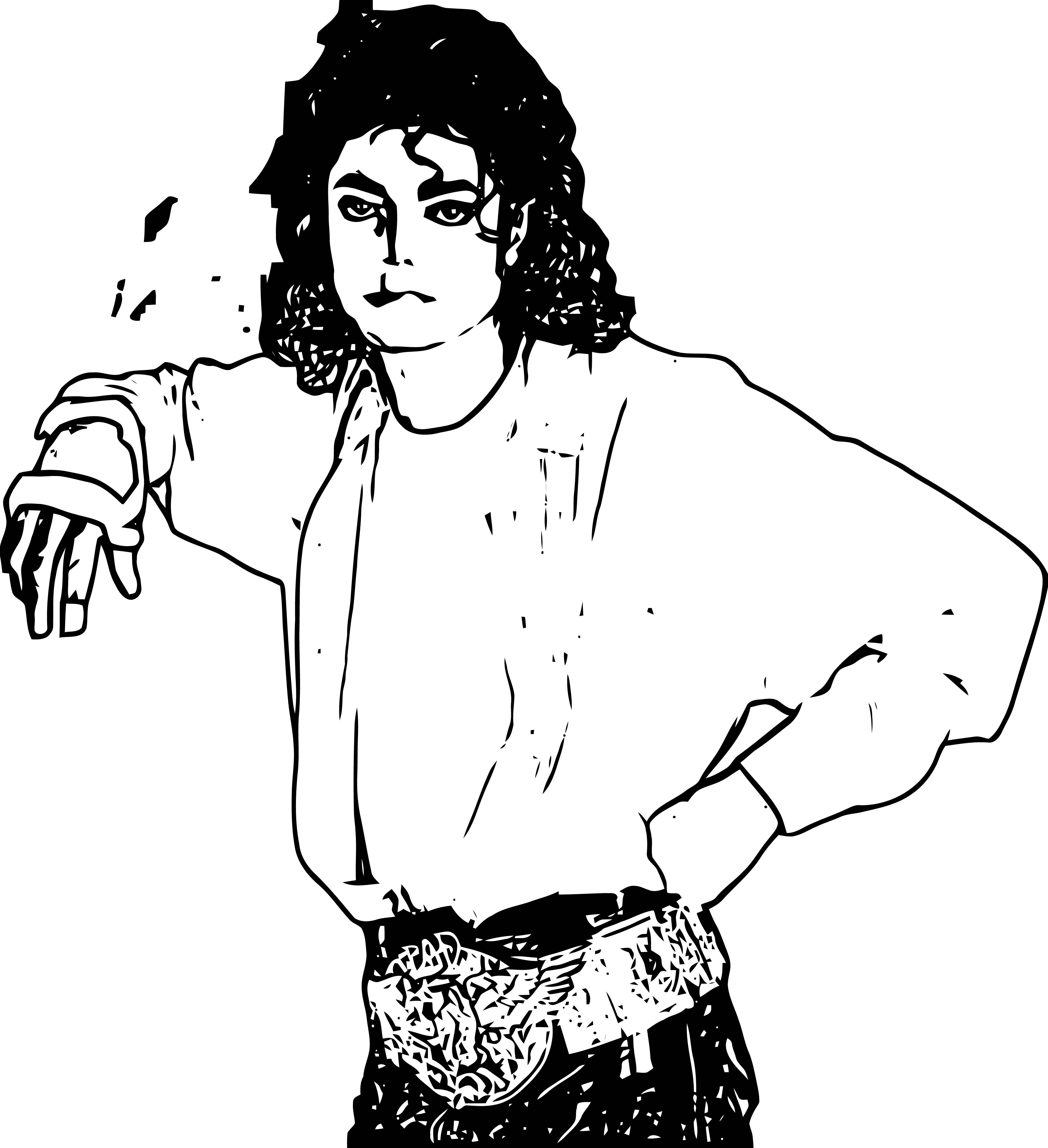 Michael Jackson Coloring Page 35