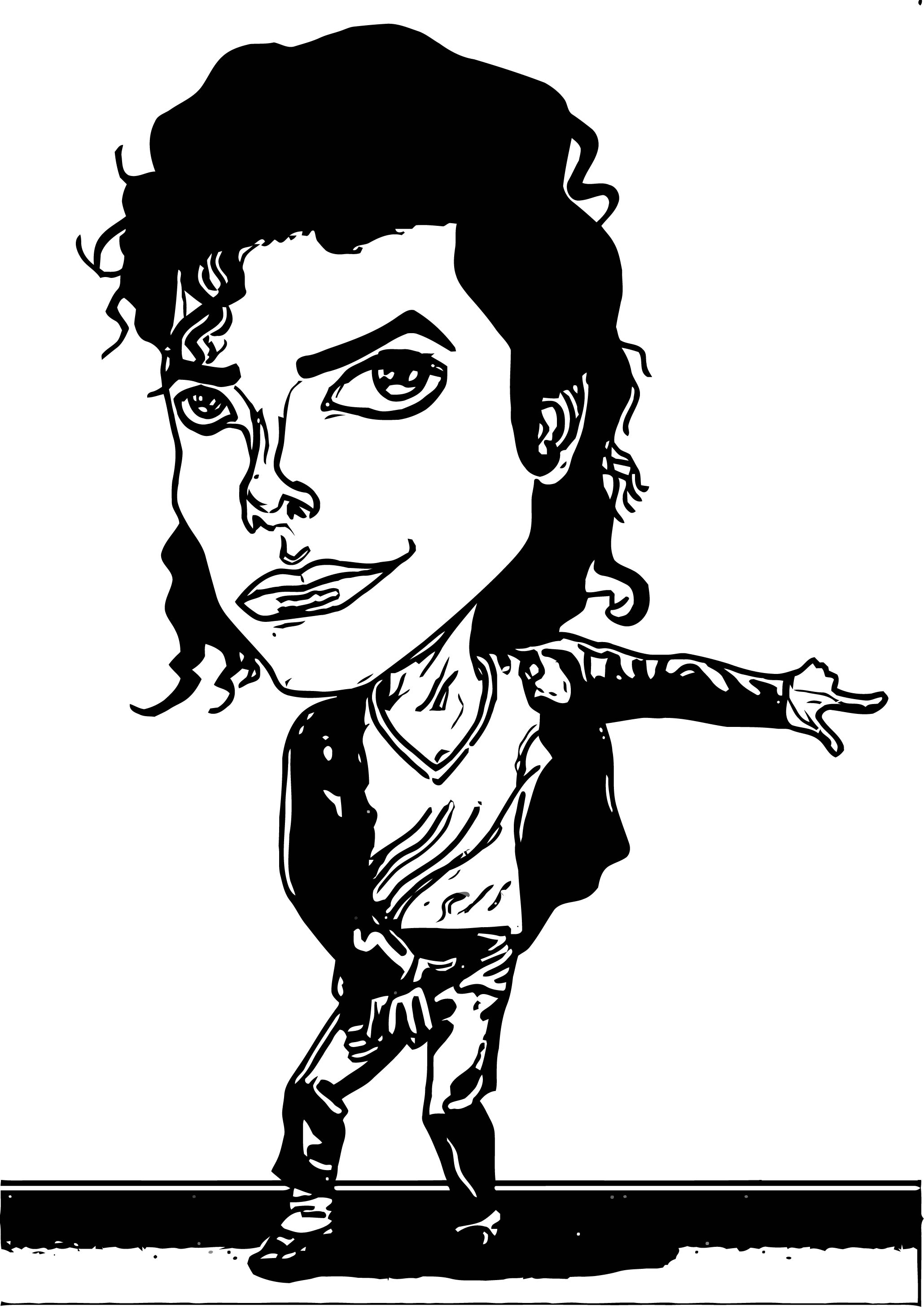 Michael Jackson Coloring Page 36