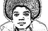 Michael Jackson Coloring Page 39