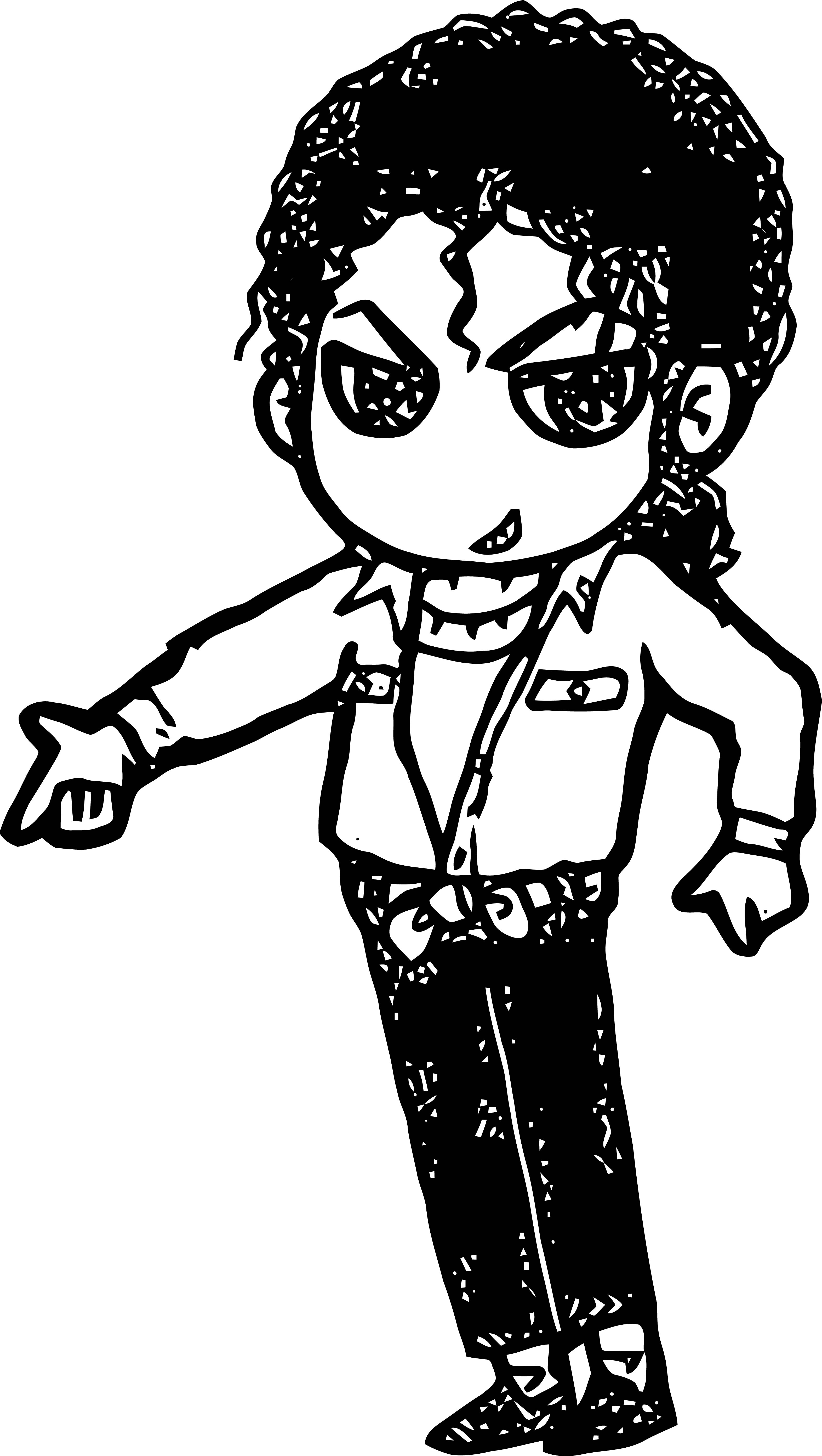 Michael Jackson Coloring Page 49