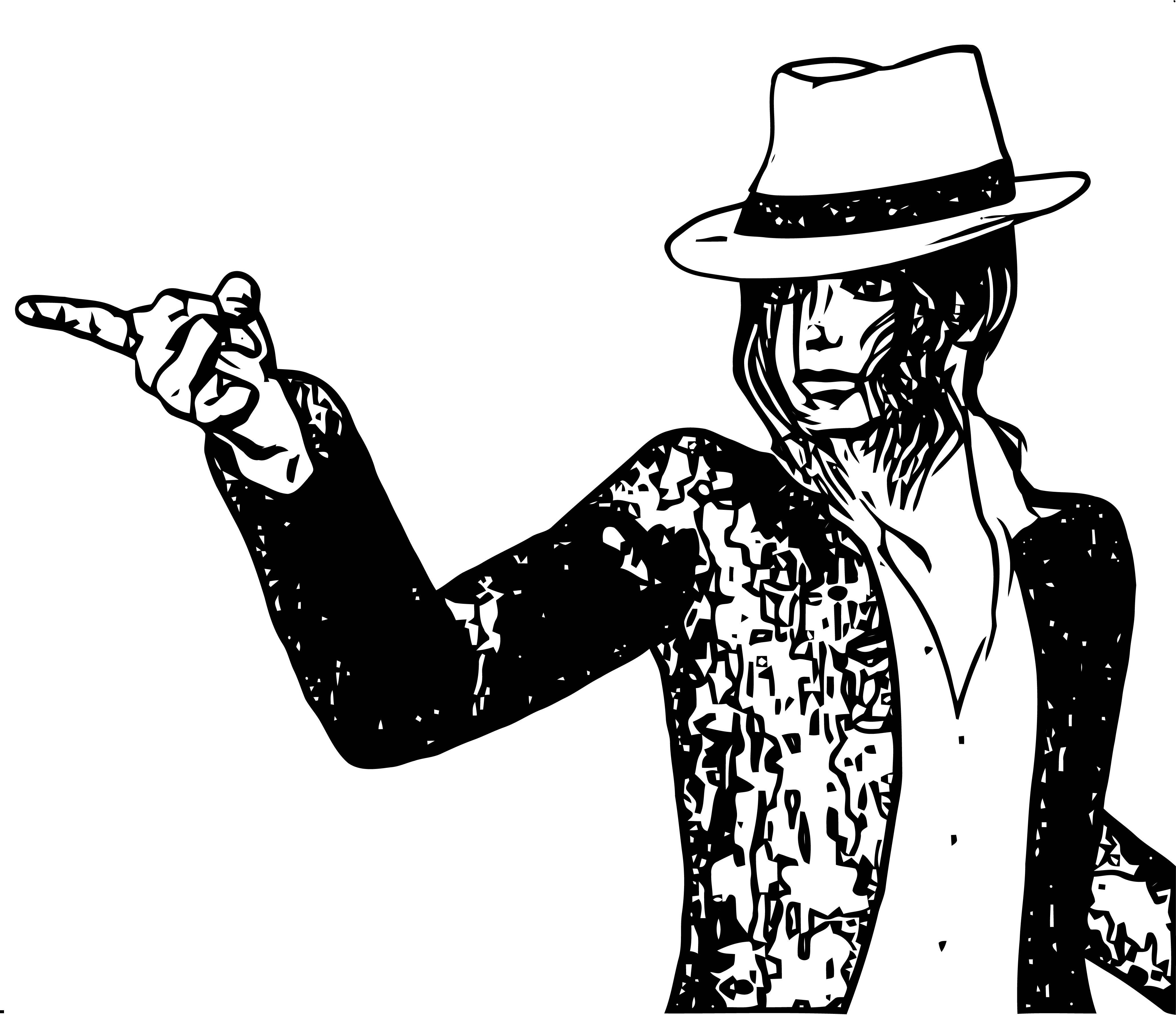 Michael Jackson Coloring Page 56