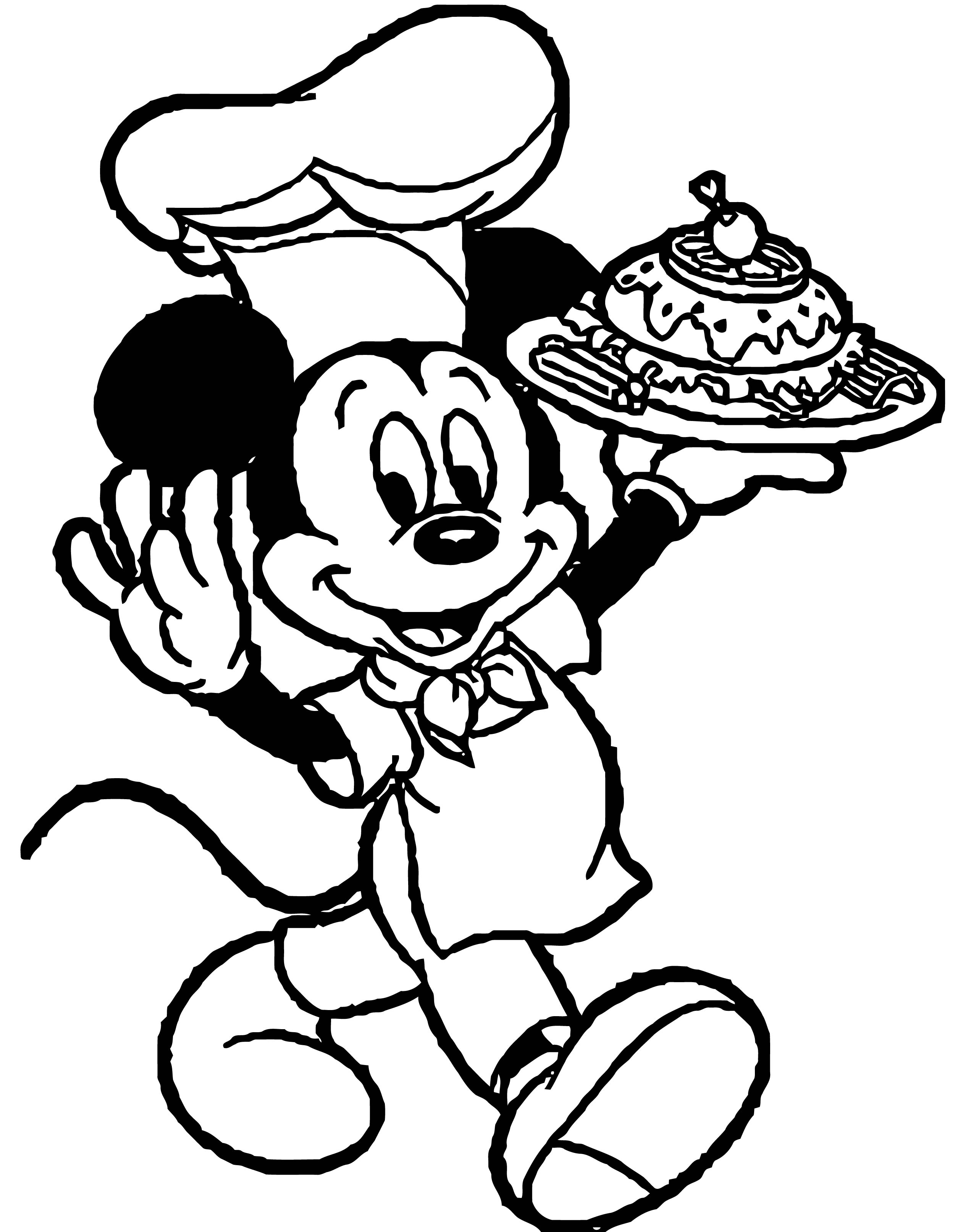 Mickburger Mickey Mouse Coloring Page