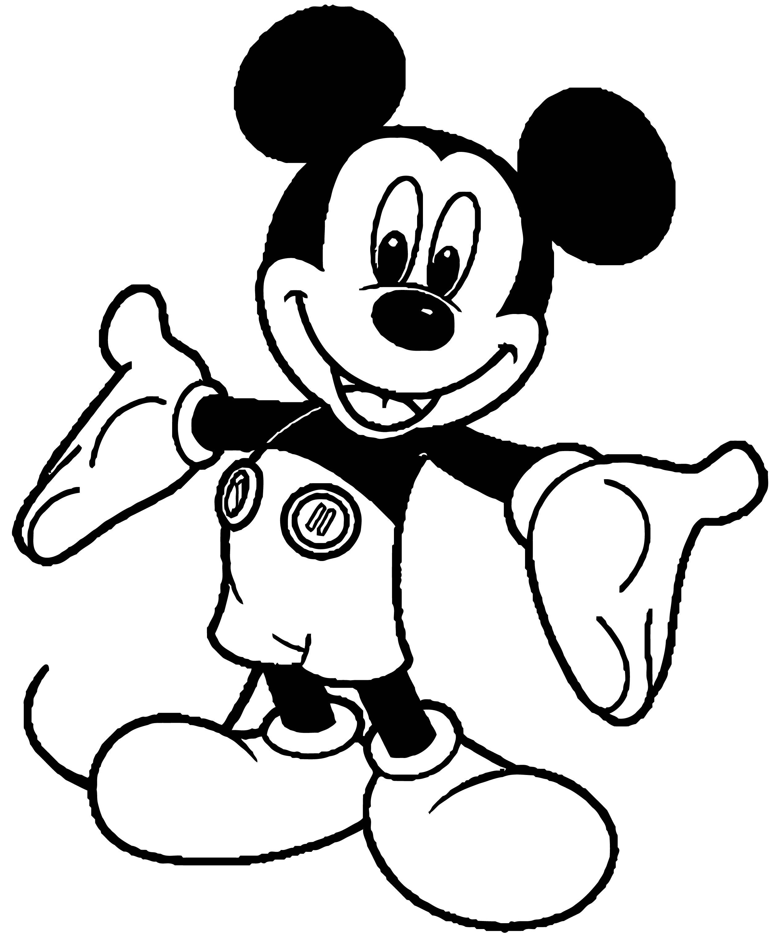 Mickey Mouse Cartoon Coloring Page Wecoloringpage 007
