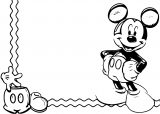 Mickey Mouse Cartoon Coloring Page Wecoloringpage 042