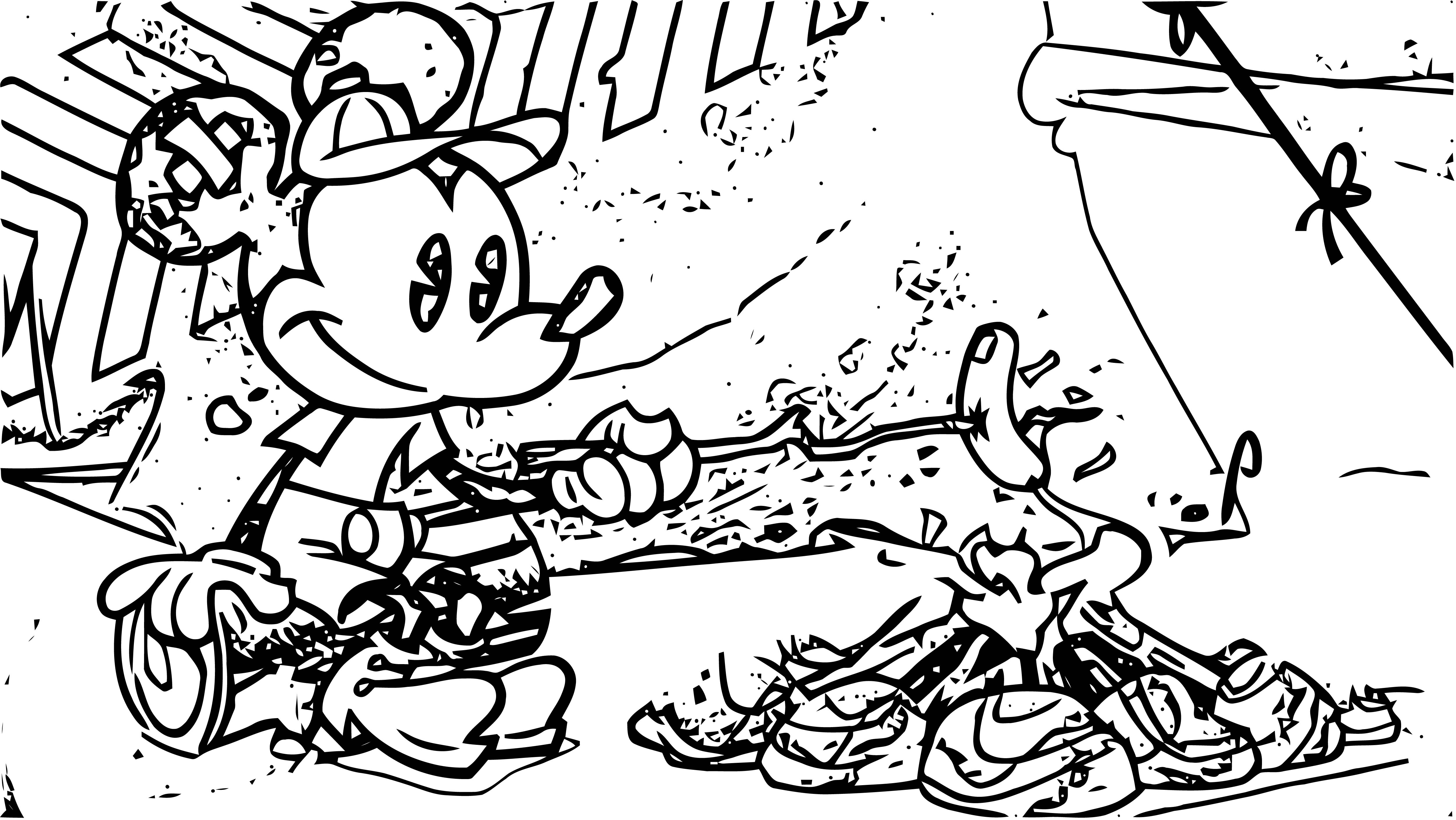 Mickey Mouse Cartoon Coloring Page Wecoloringpage 059