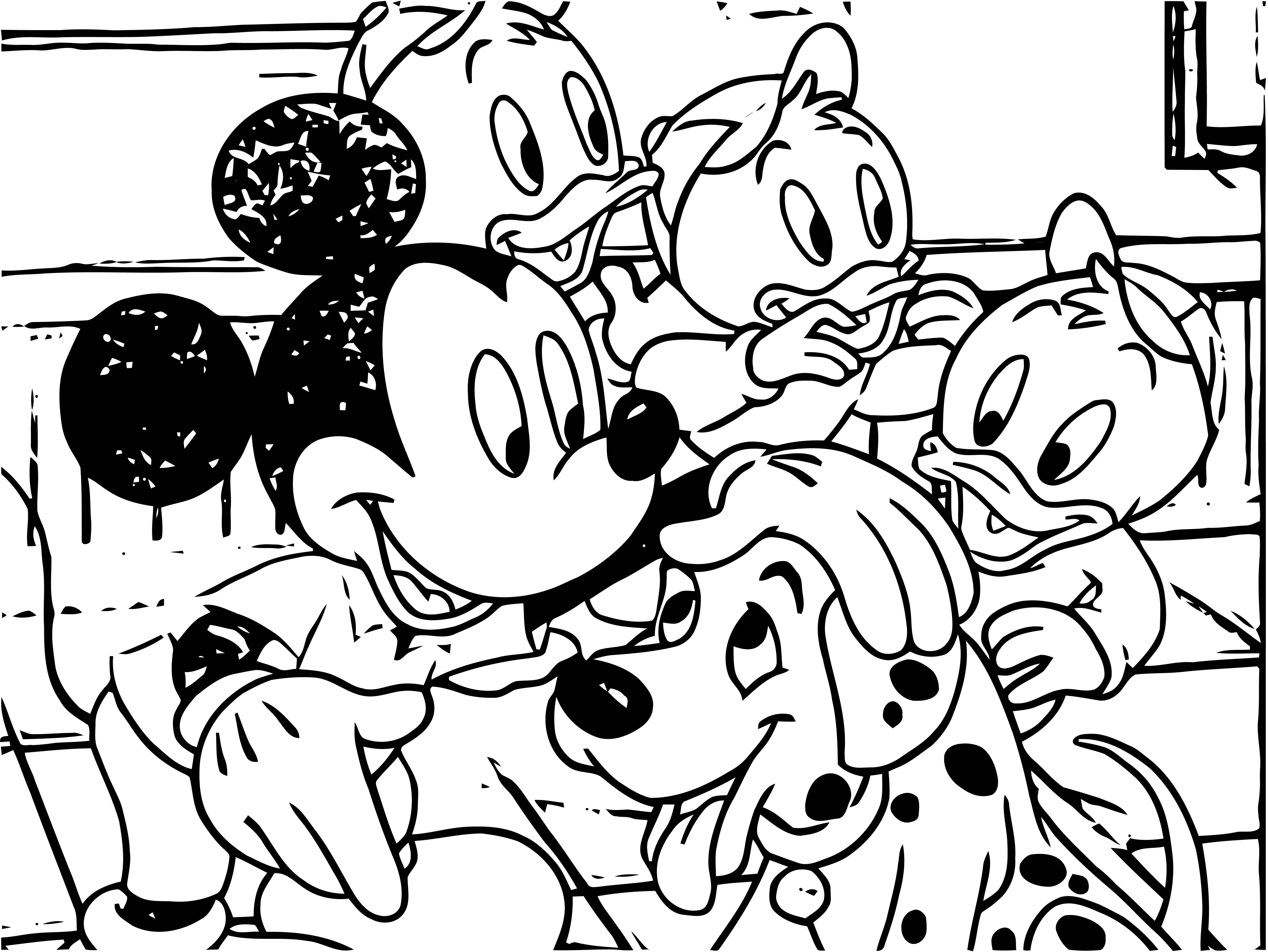 Mickey Mouse Cartoon Coloring Page Wecoloringpage 064