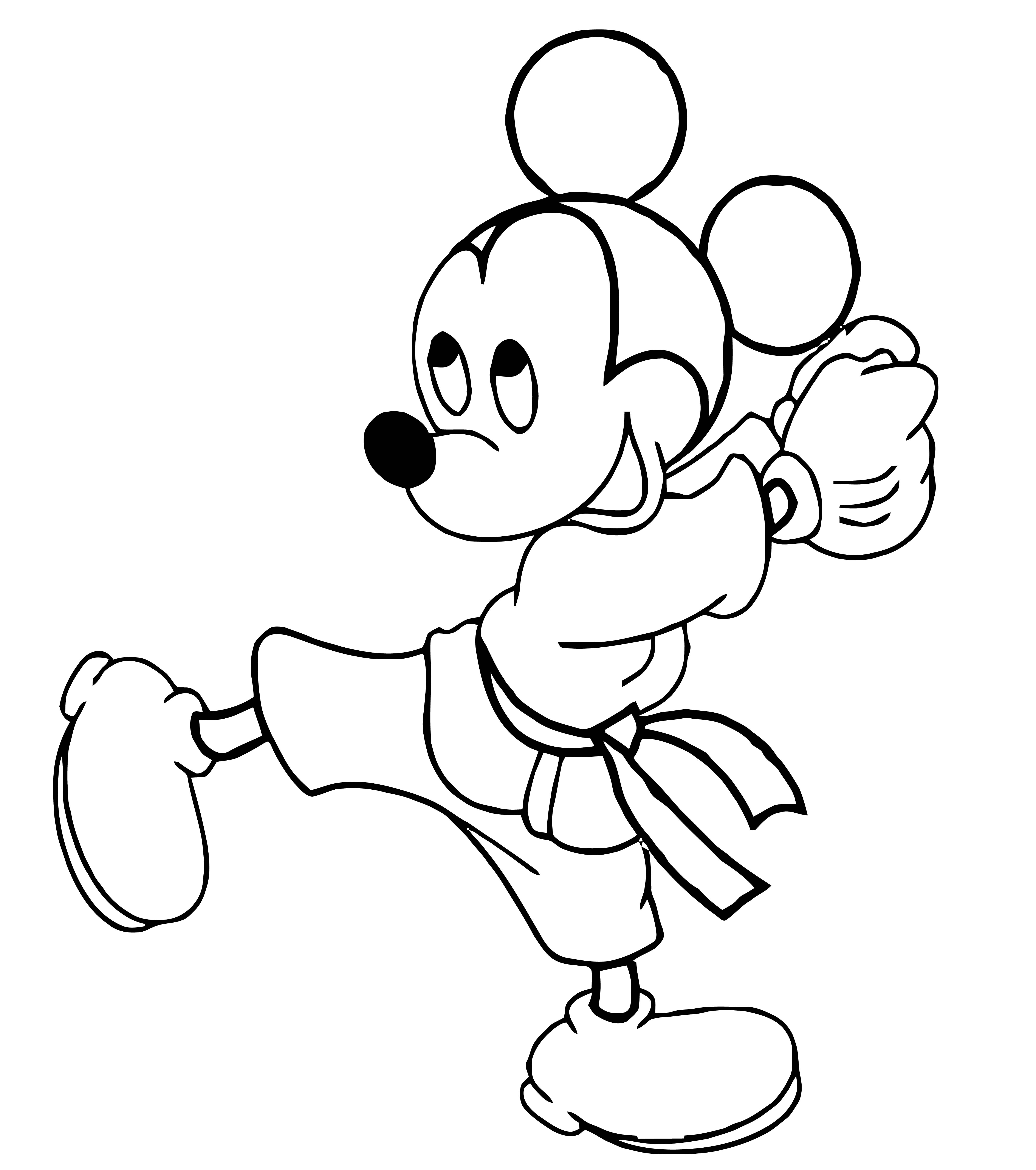 Mickey Mouse Cartoon Coloring Page Wecoloringpage 066