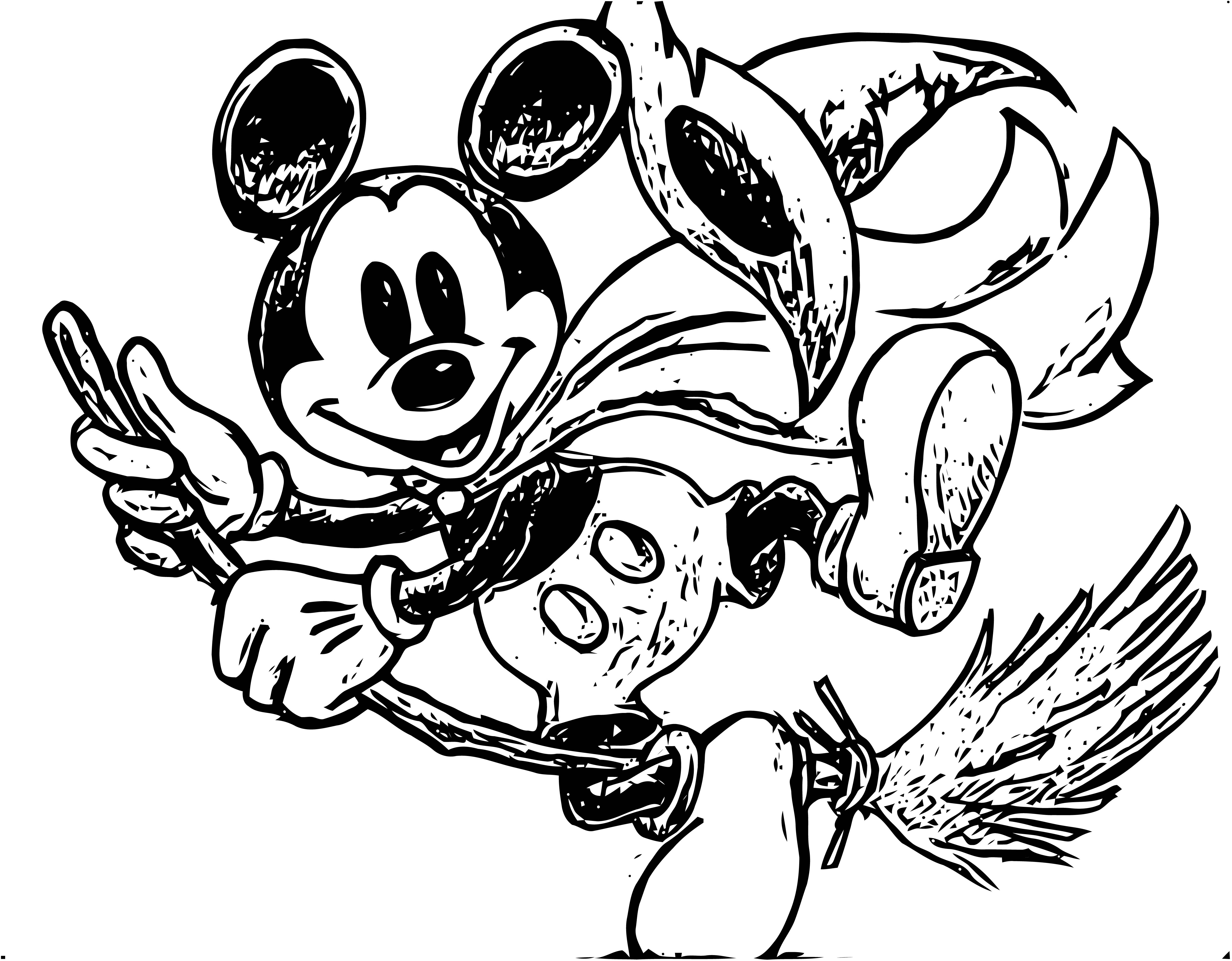 Mickey Mouse Cartoon Coloring Page Wecoloringpage 070