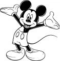 Mickey Mouse Cartoon Coloring Page Wecoloringpage 075