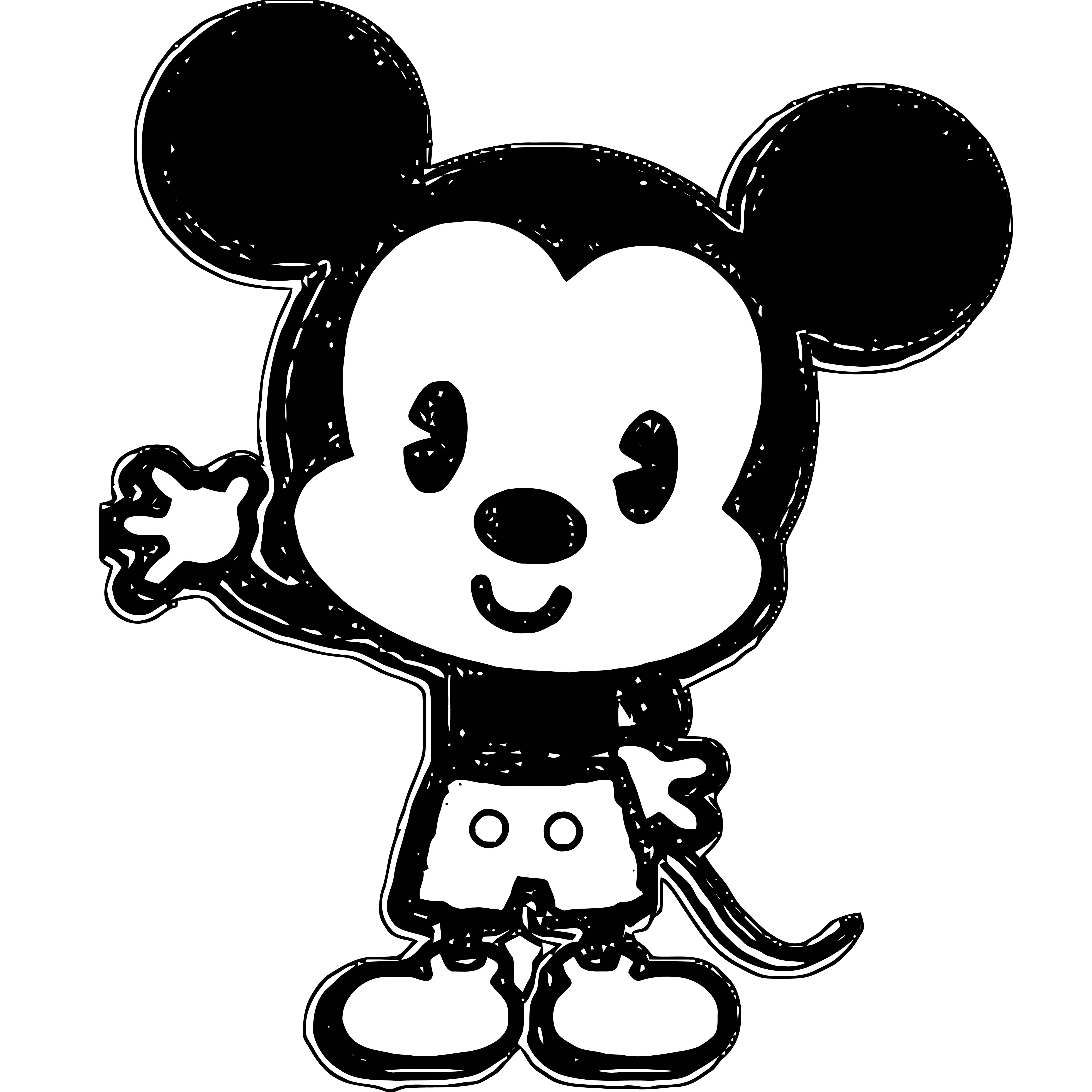 Mickey Mouse Cartoon Coloring Page Wecoloringpage 076