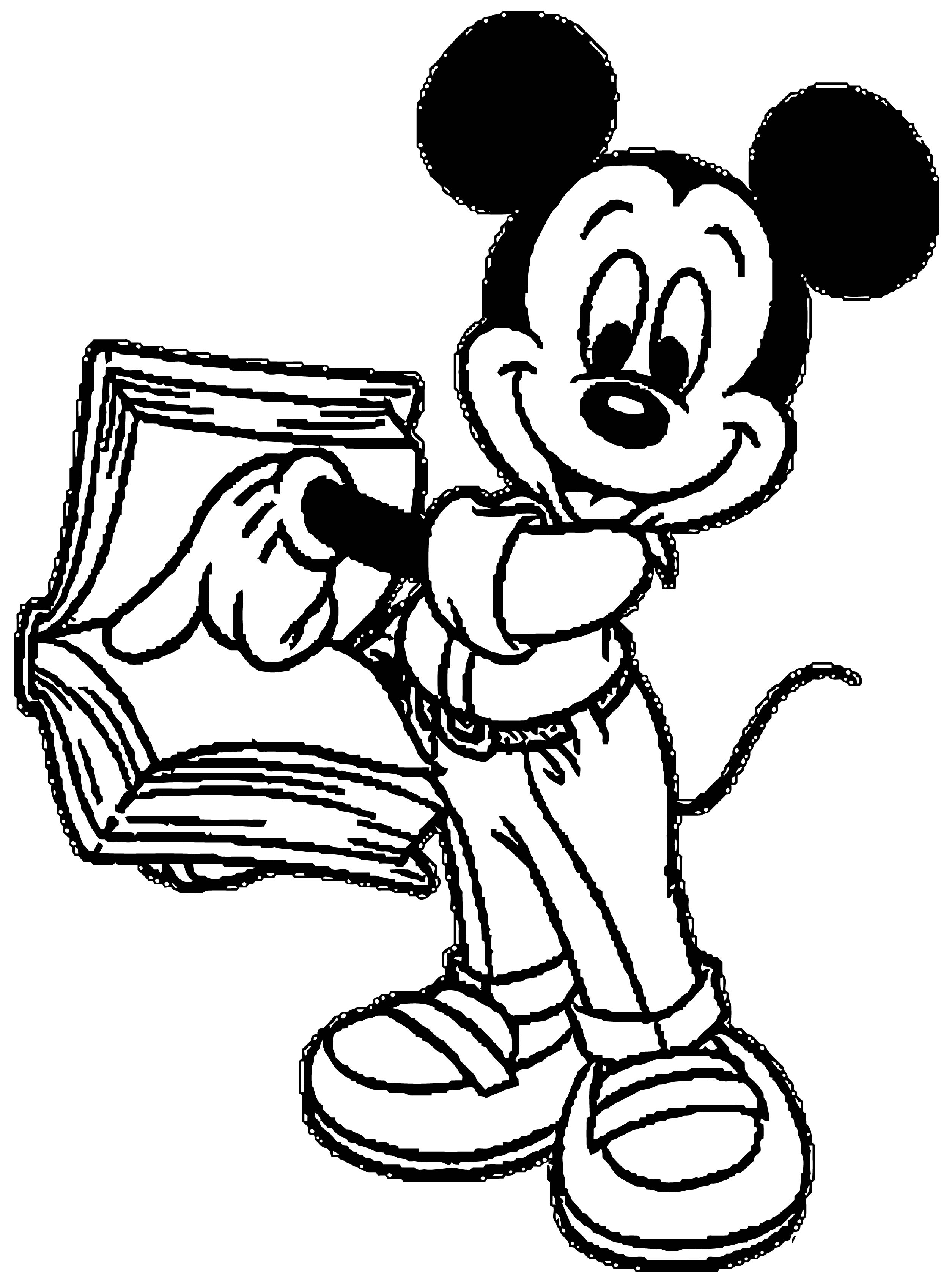 Mickey Mouse Cartoon Coloring Page Wecoloringpage 096