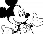 Mickey Mouse Cartoon Coloring Page Wecoloringpage 100