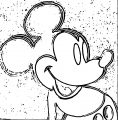 Mickey Mouse Cartoon Coloring Page Wecoloringpage 103