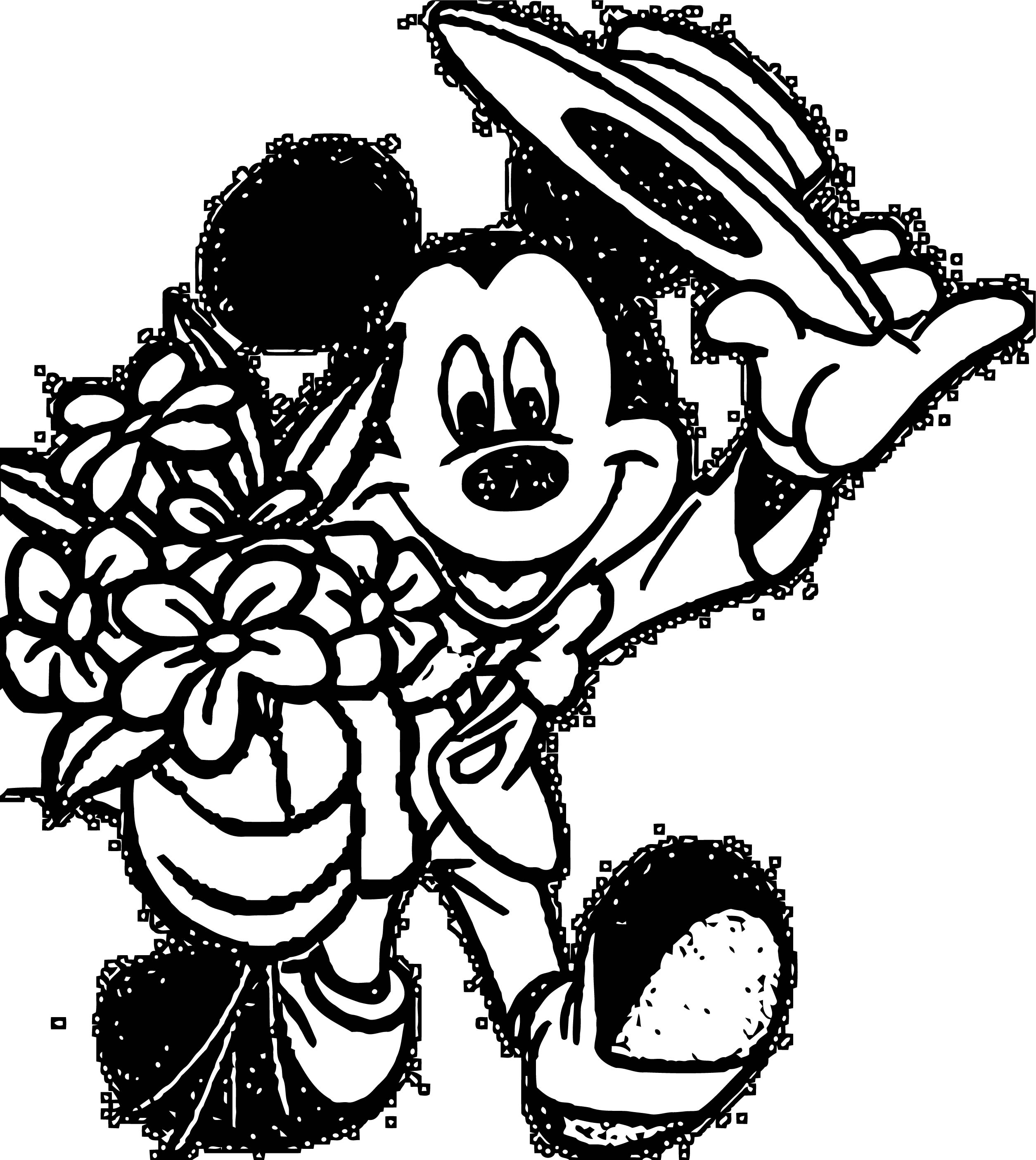 Mickey Mouse Cartoon Coloring Page Wecoloringpage 107