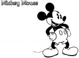 Mickey Mouse Cartoon Coloring Page Wecoloringpage 157