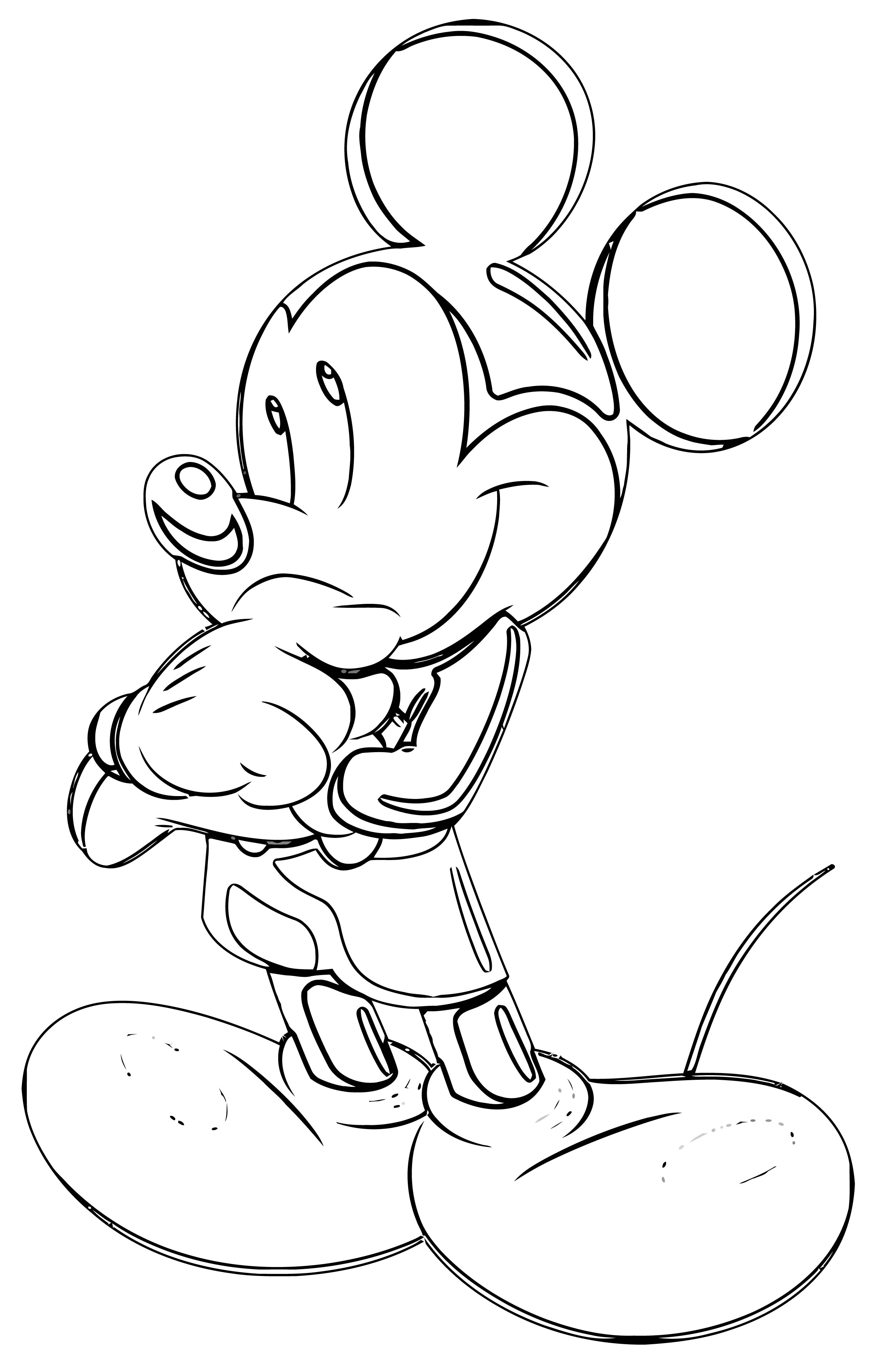 Mickey Mouse Coloring Pages Best