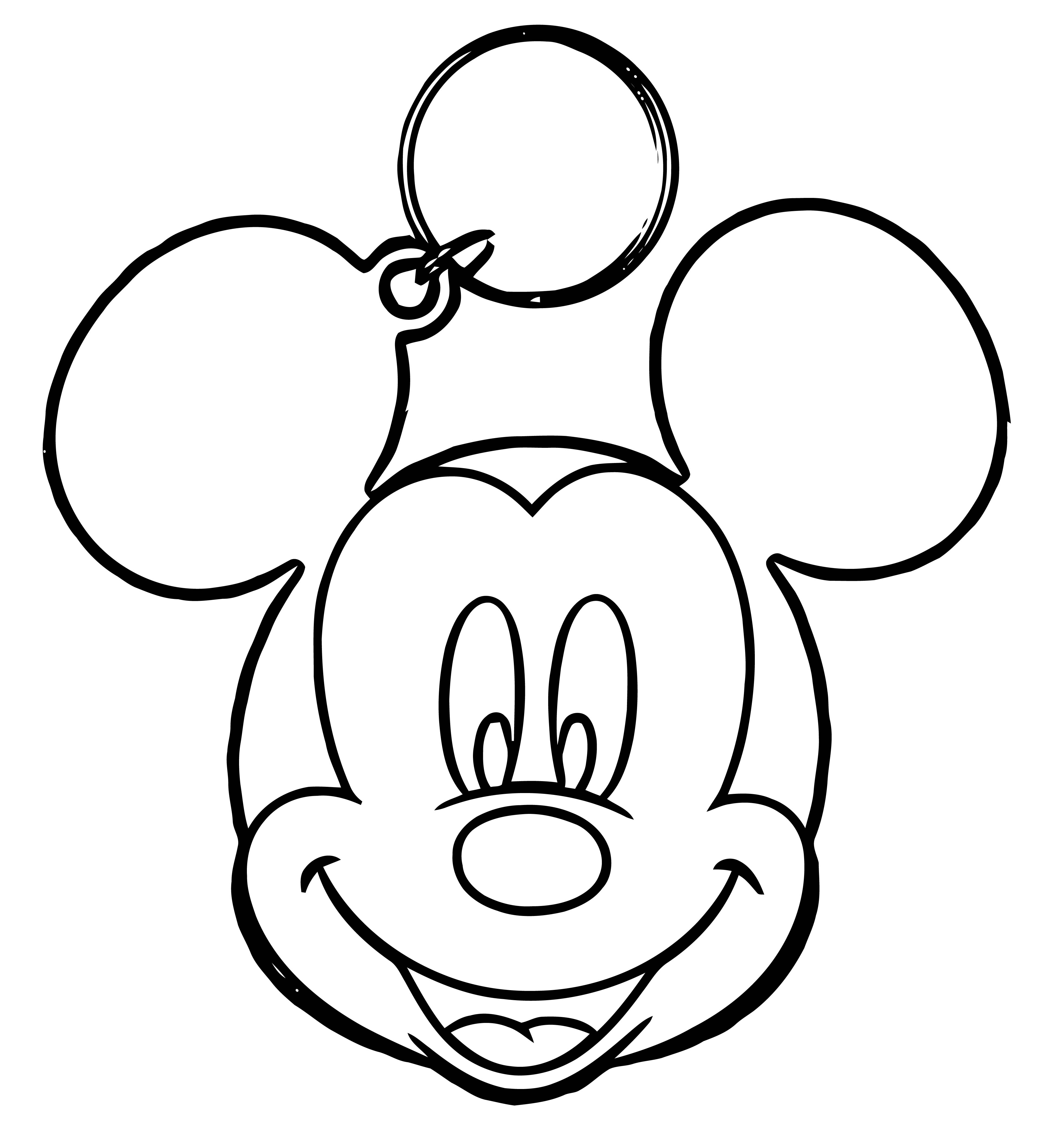 Mickey Mouse Key Coloring Page
