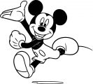 Mickey Mouse With Gloves Coloring Page