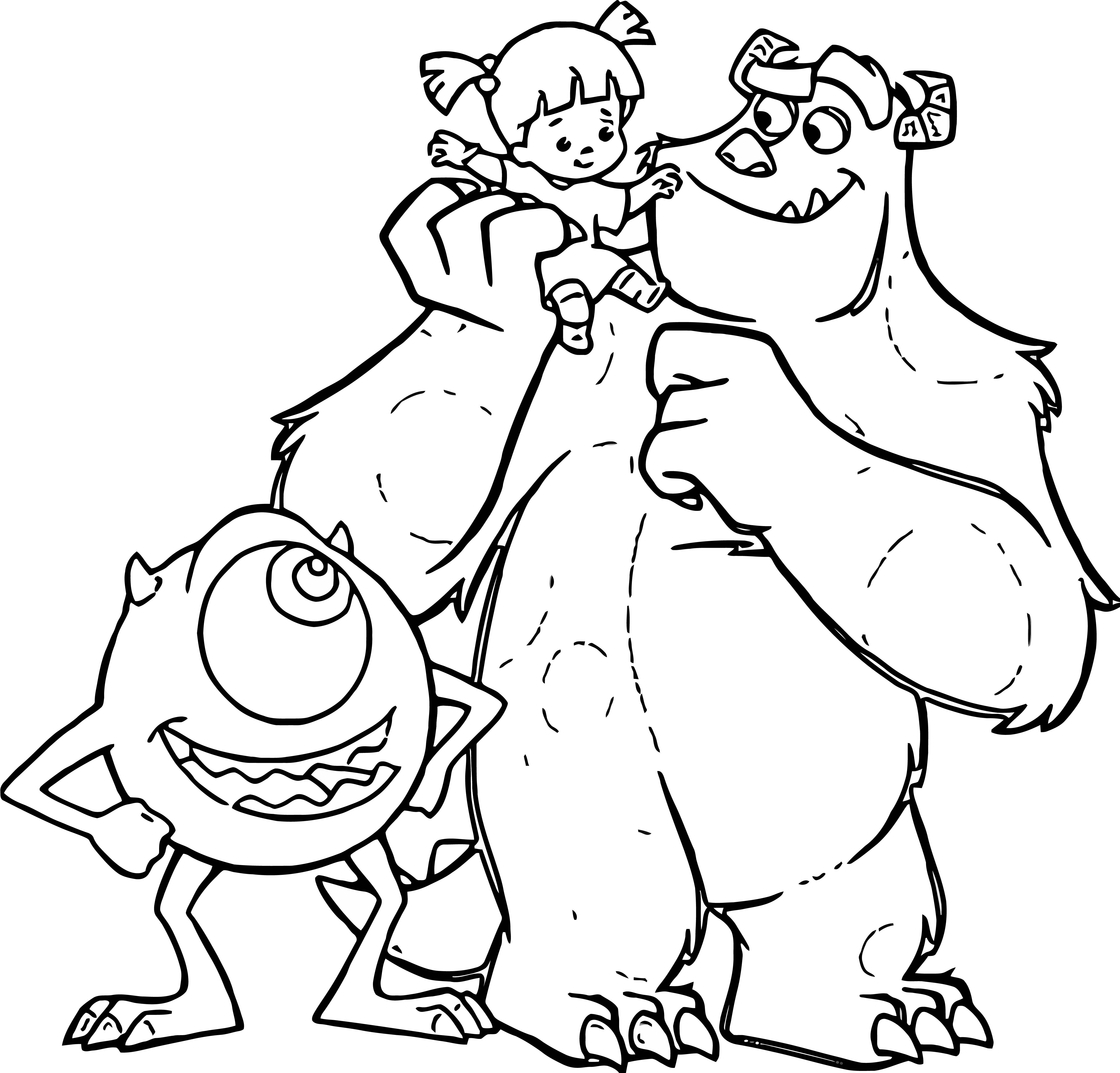 Monster 3 Coloring Pages