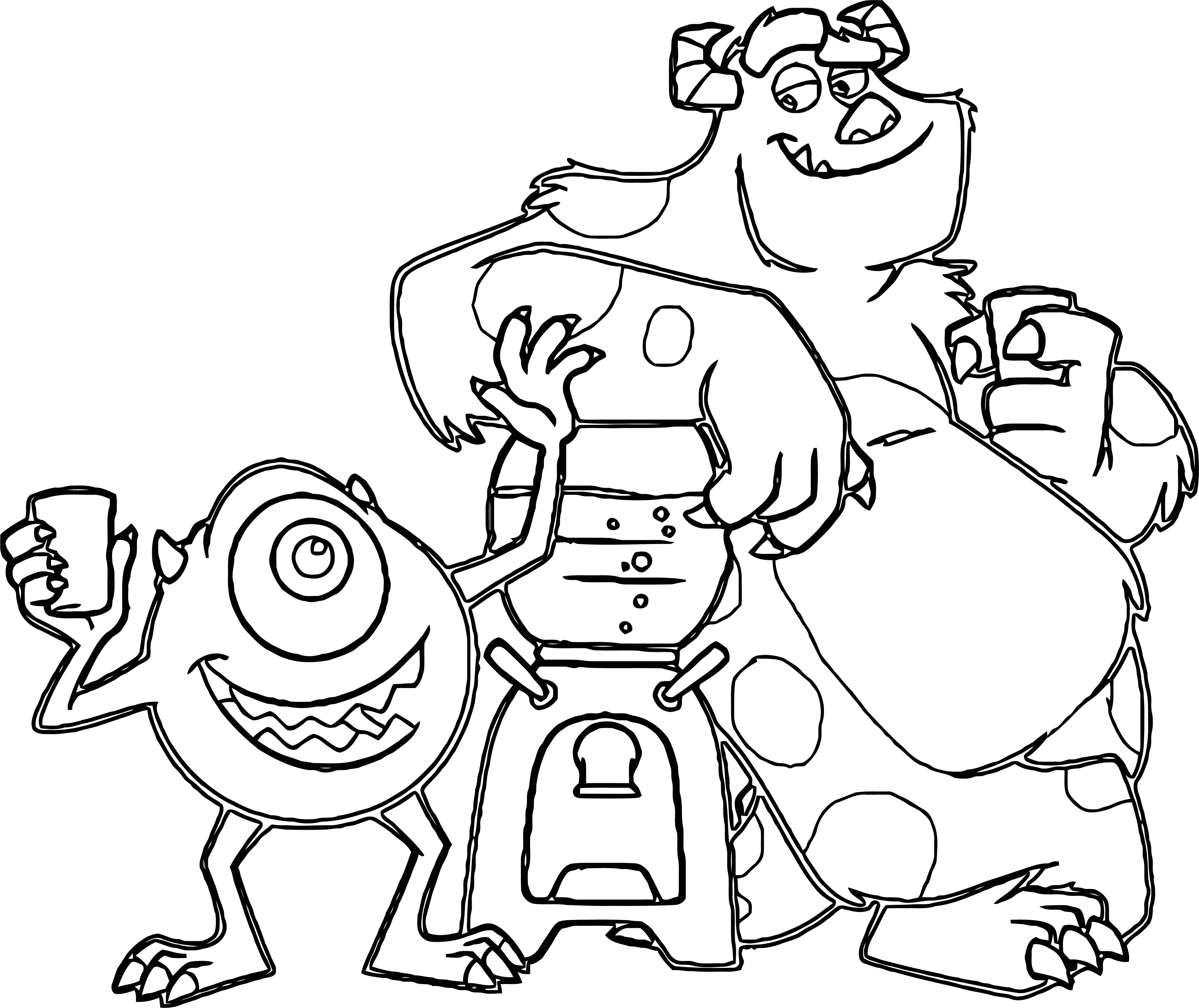 Monster S 1 Coloring Pages