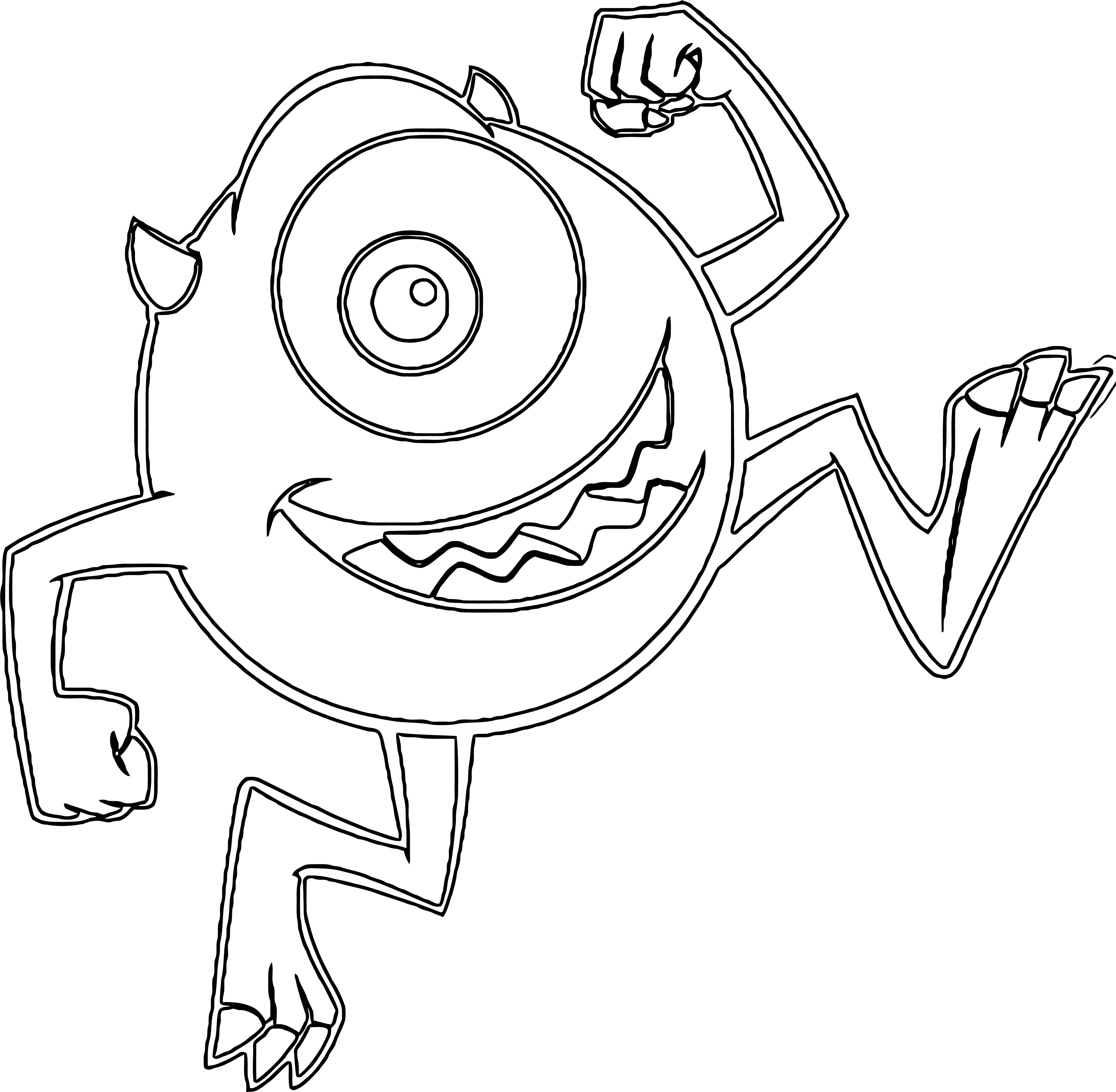 Monster S 18 Coloring Pages