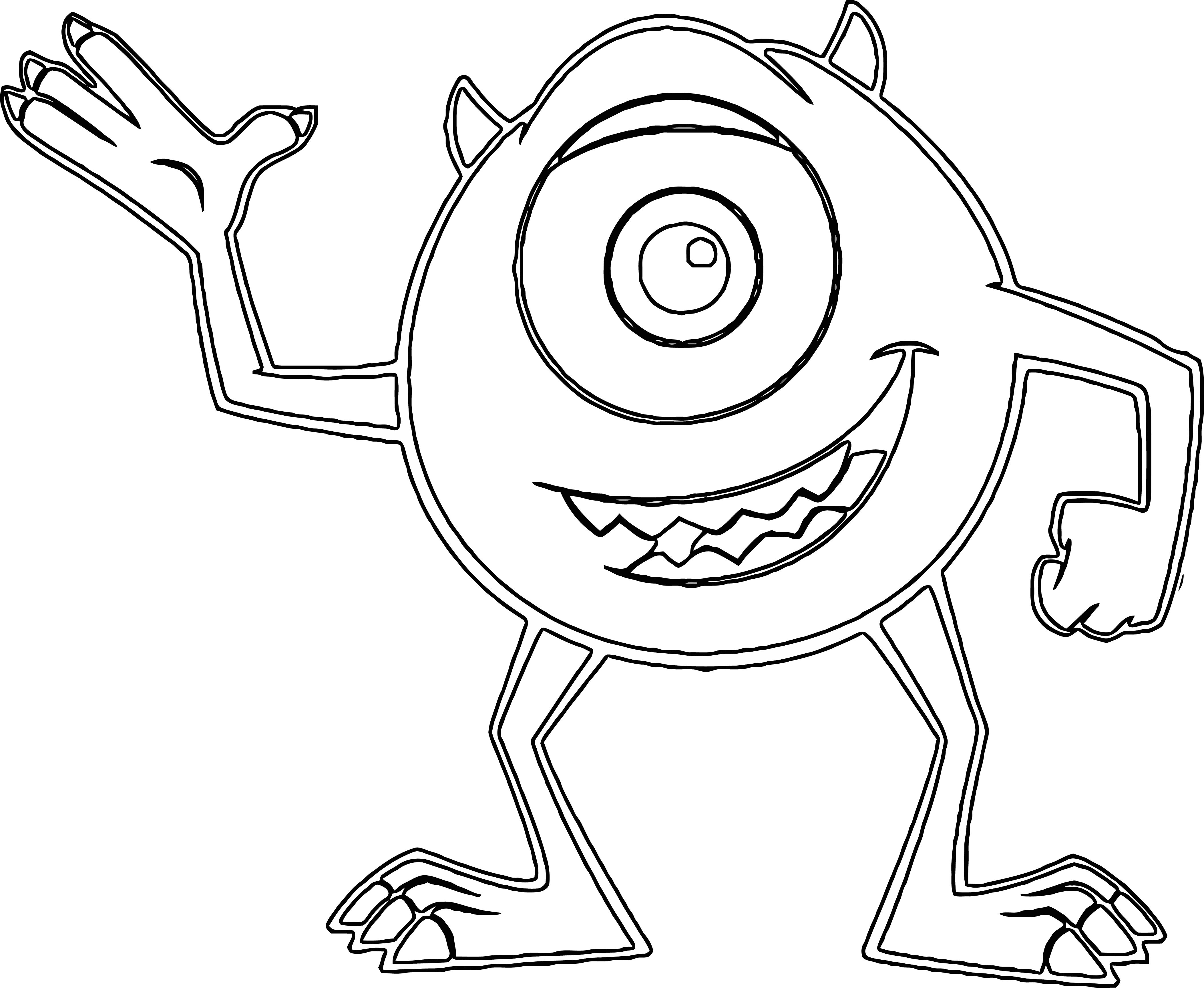 Monster S 19 Coloring Pages