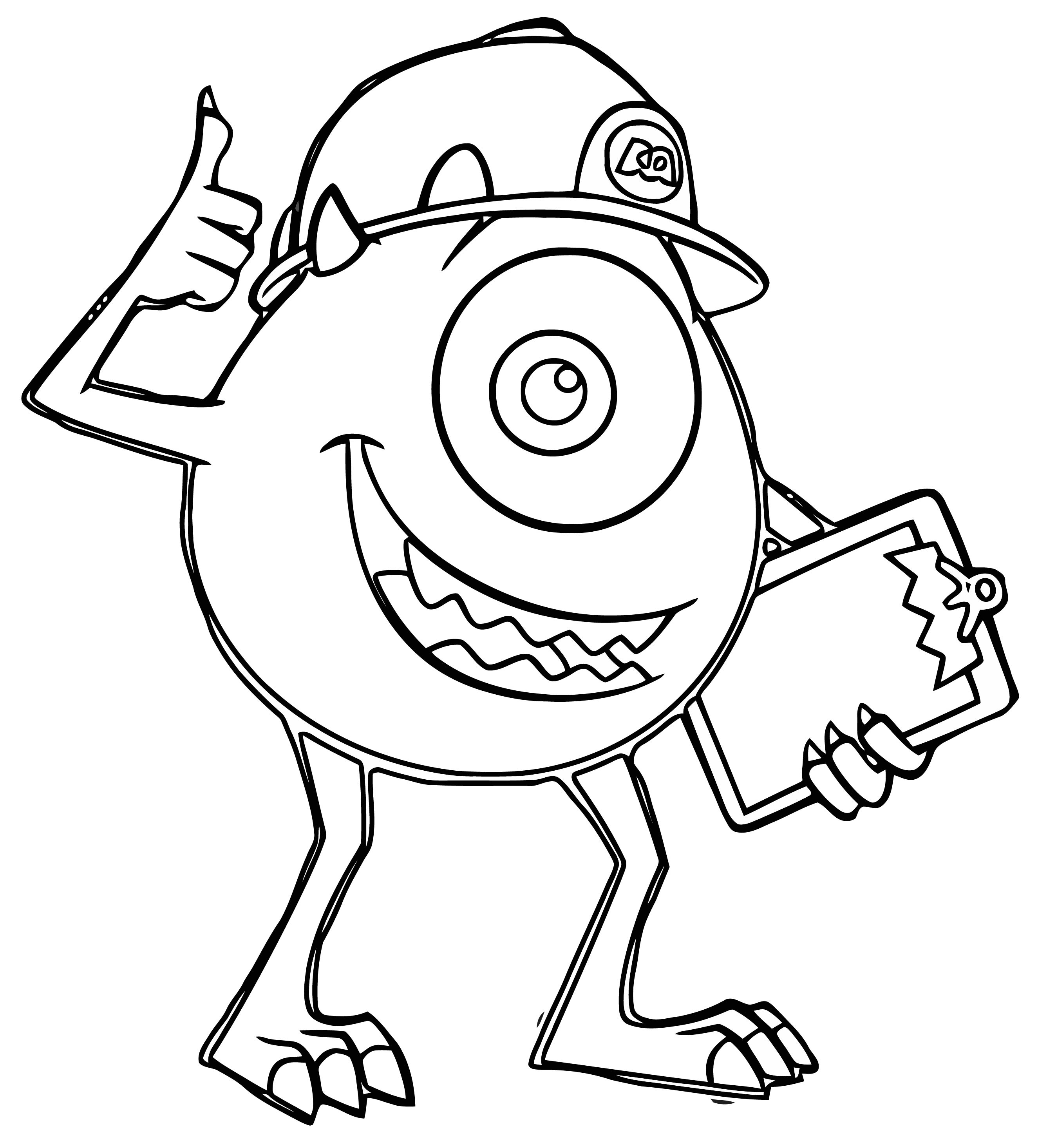 Monster S 22 Coloring Pages