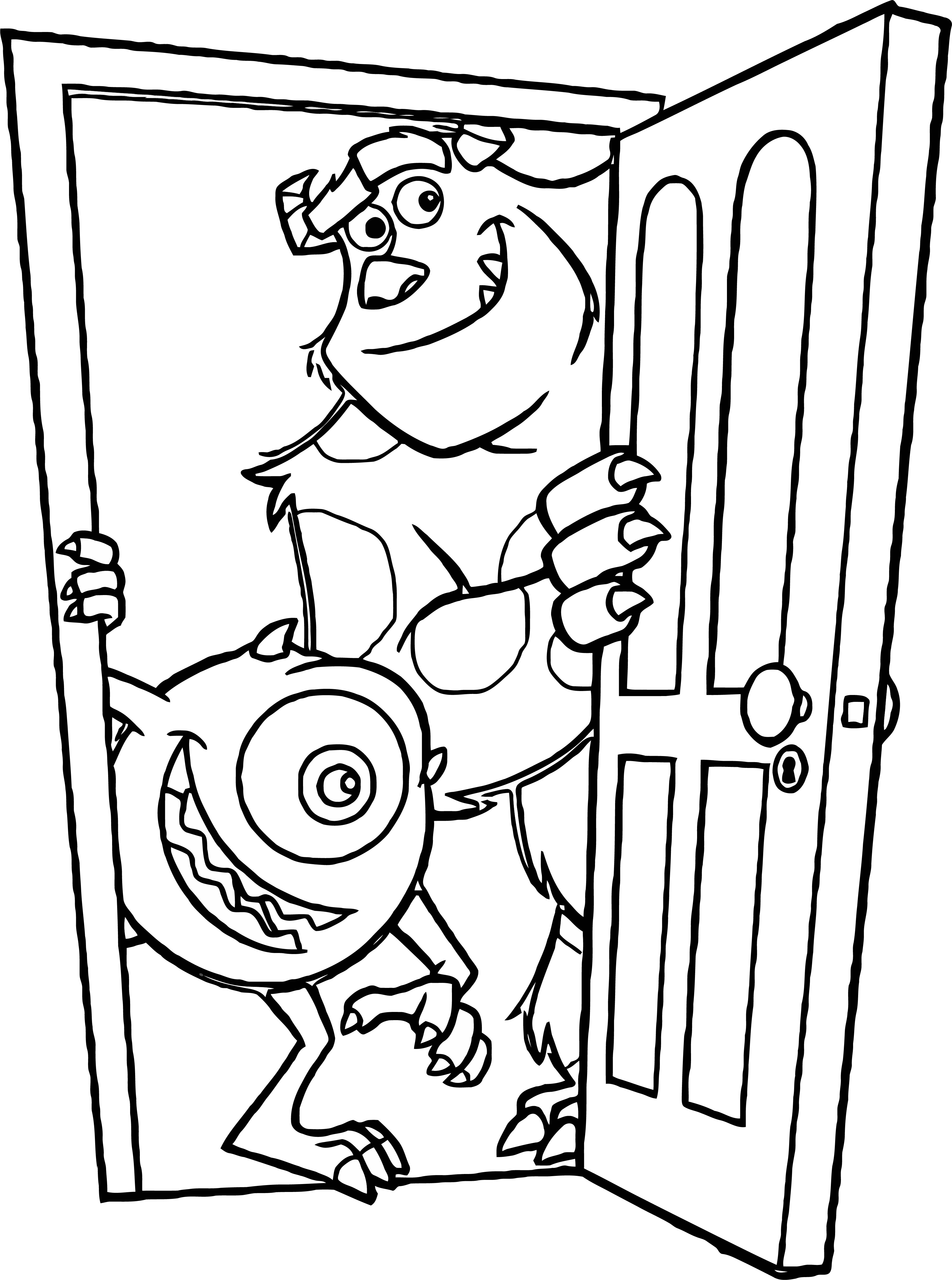 Monster S 4 Coloring Pages