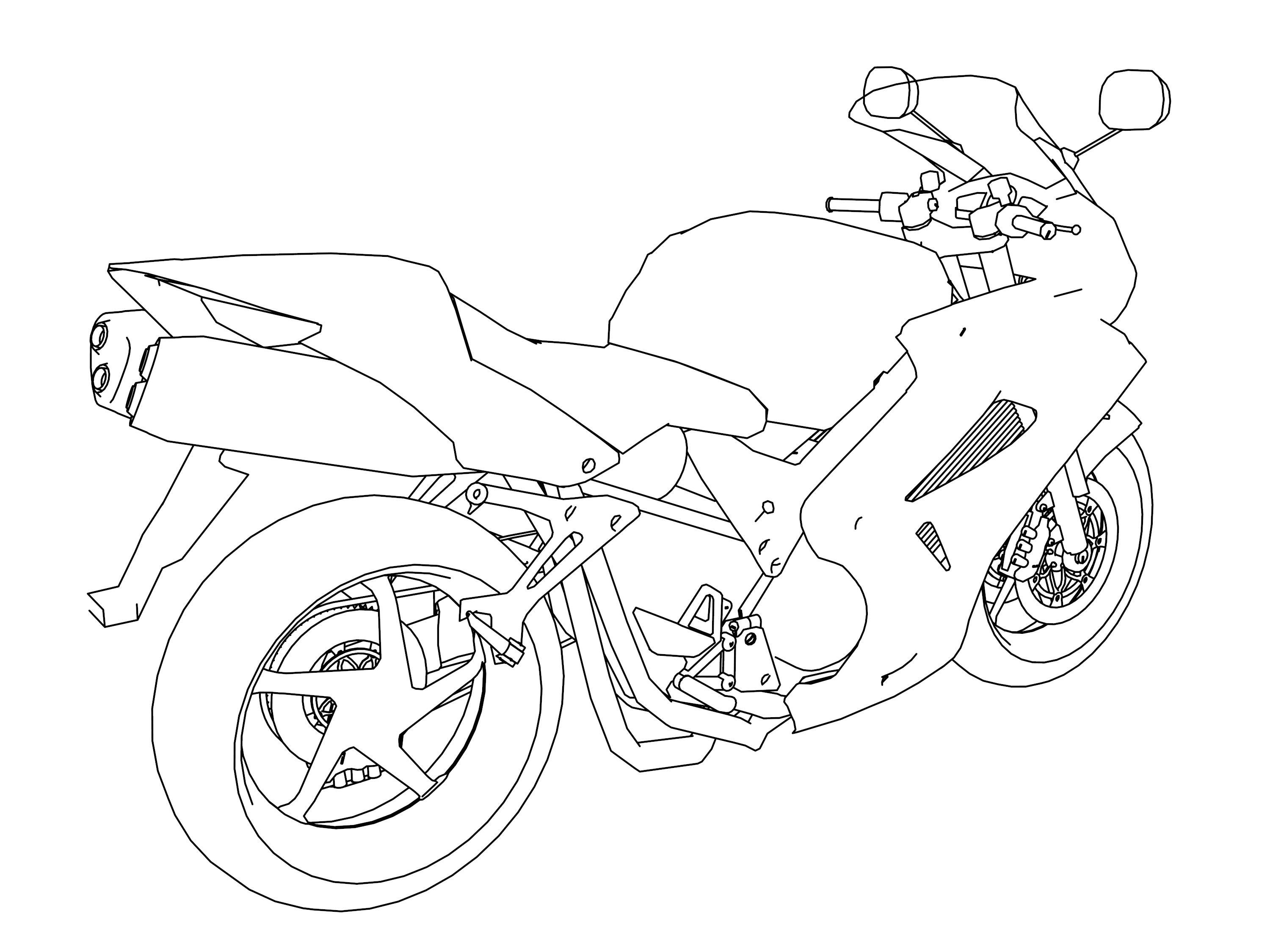 Motorcycle Coloring Pages 09