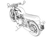 Motorcycle Coloring Pages 11