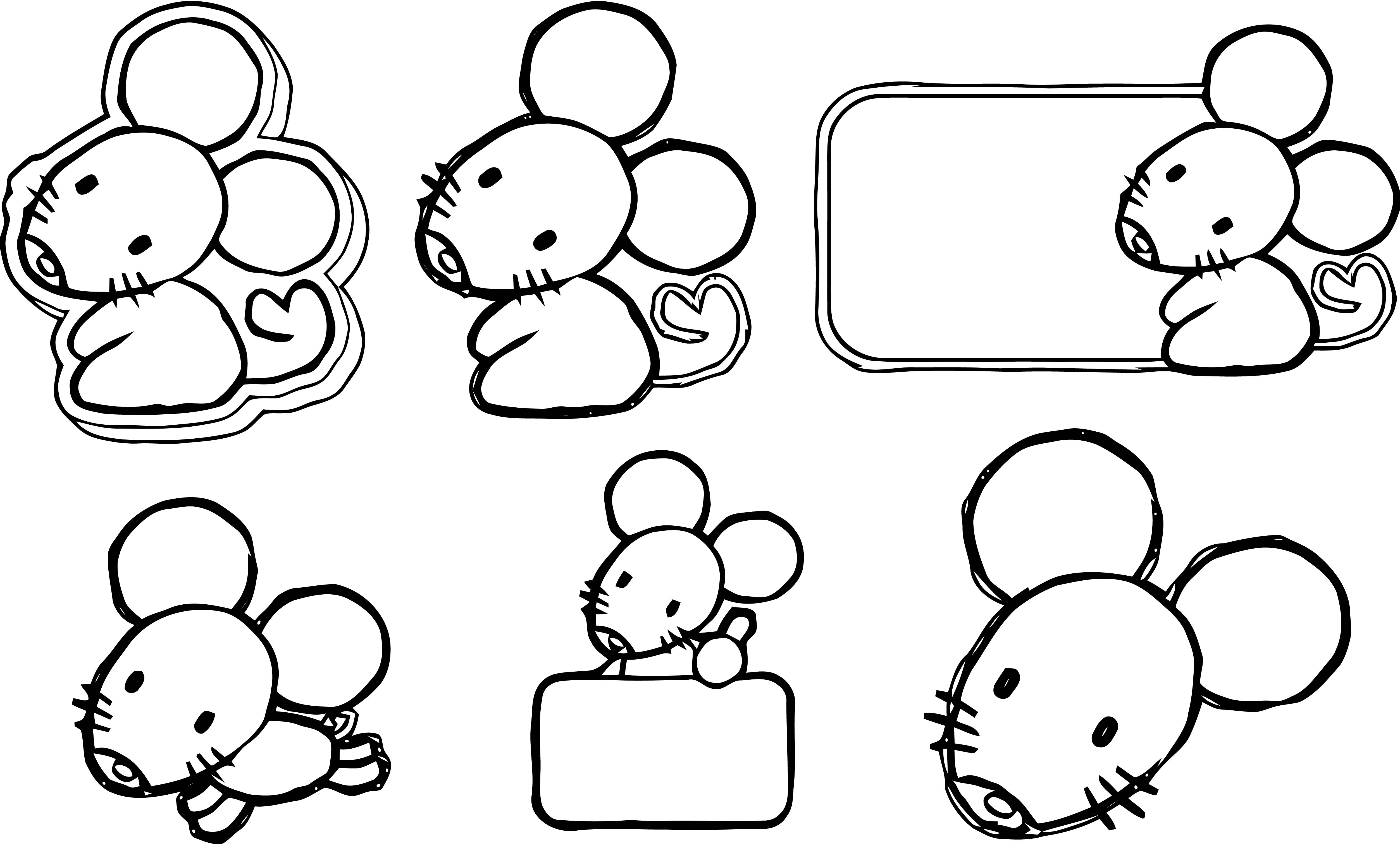 Mouse Coloring Page 81