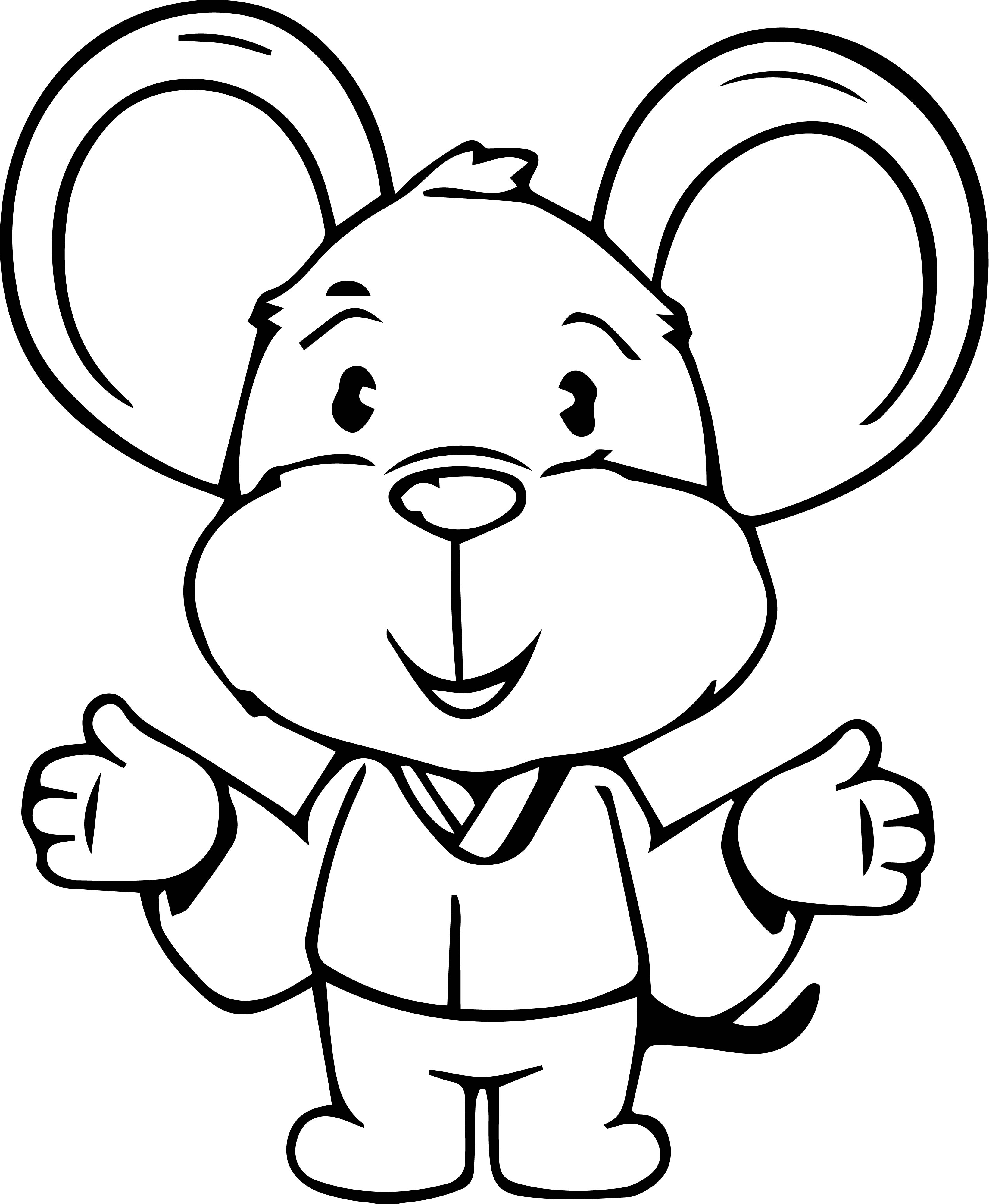 Mouse Jpeg Coloring Page 085