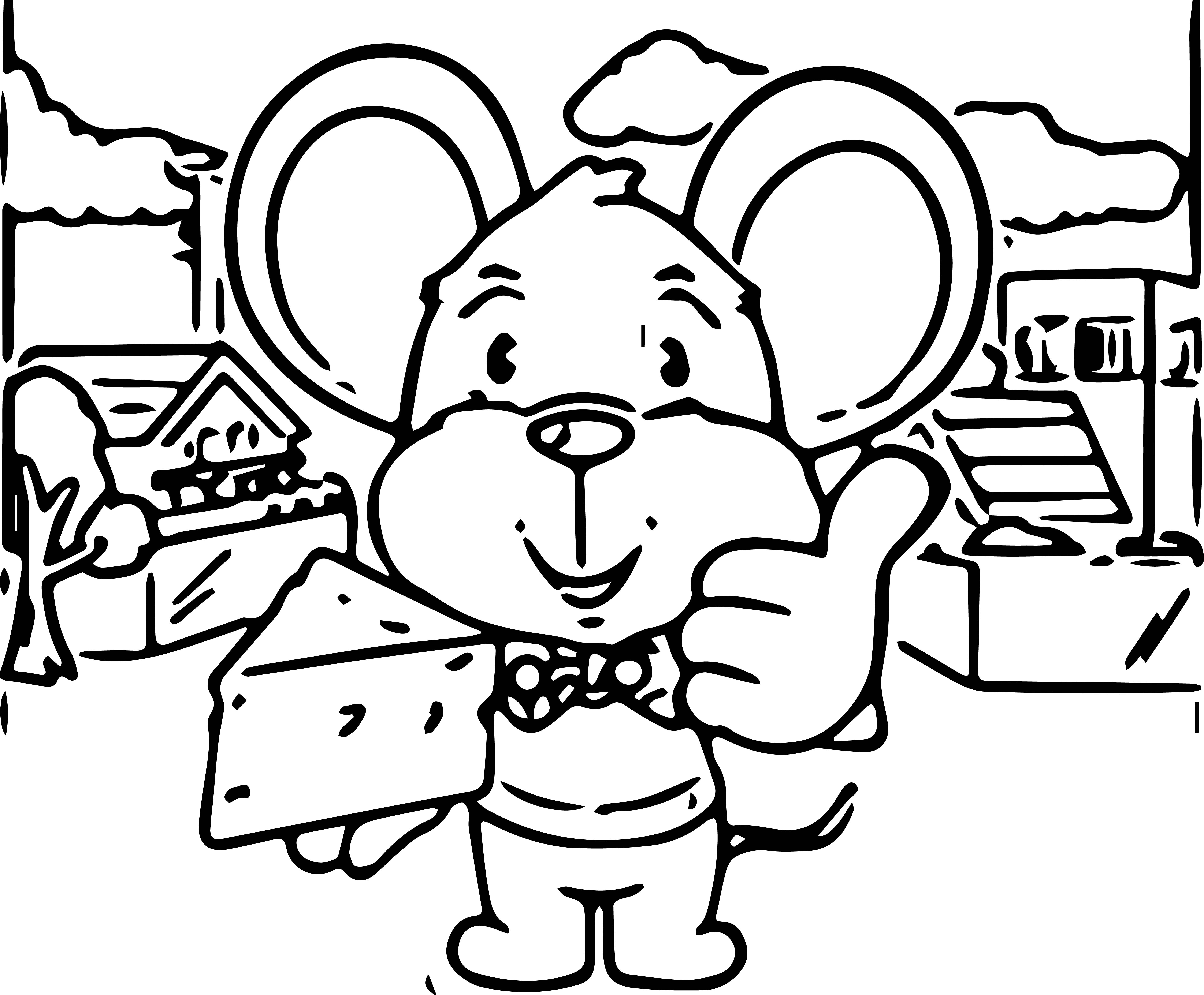 Mouse Jpeg Coloring Page 090