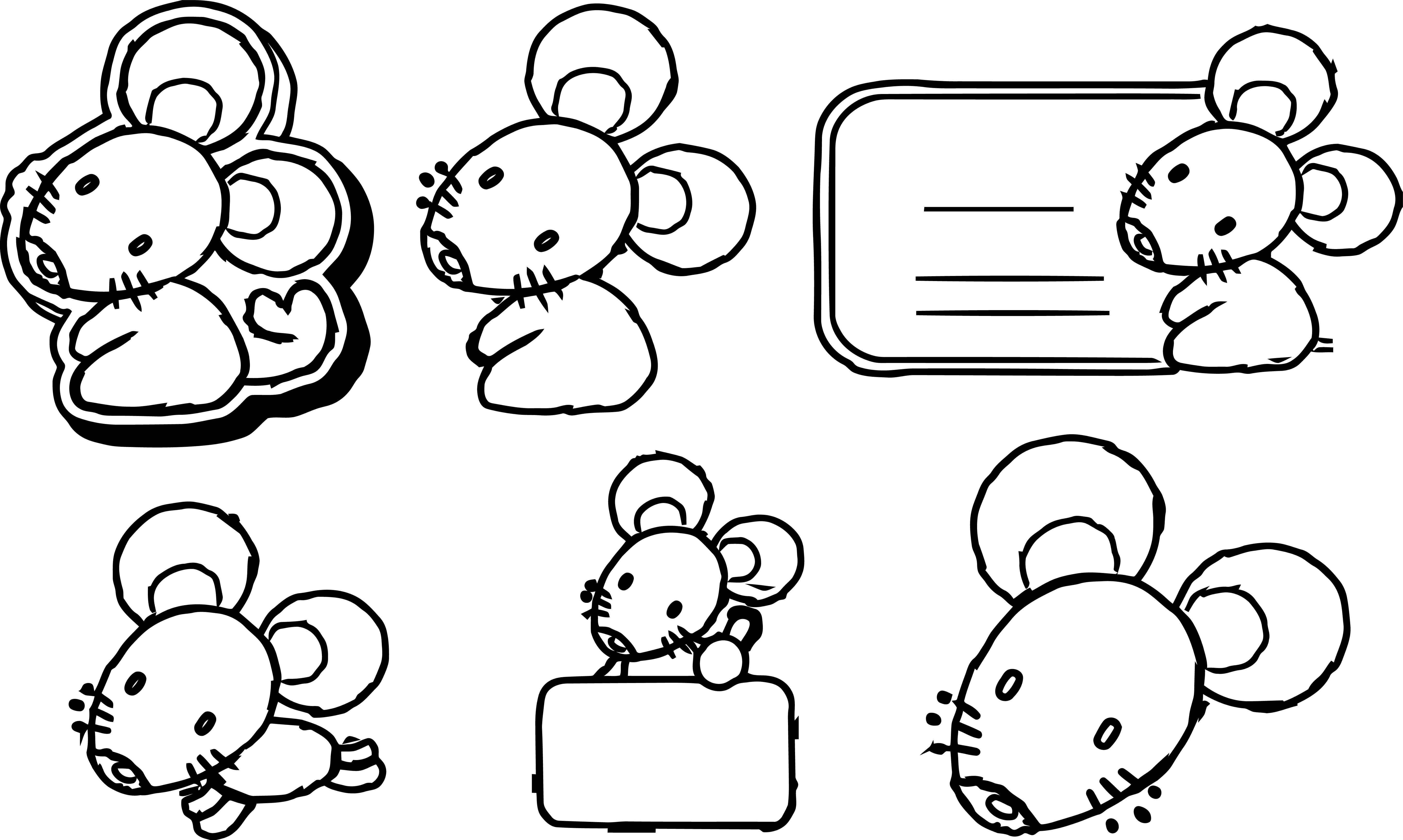 Mouse Jpeg Coloring Page 21