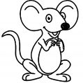 Mouse With Big Ears Coloring Page