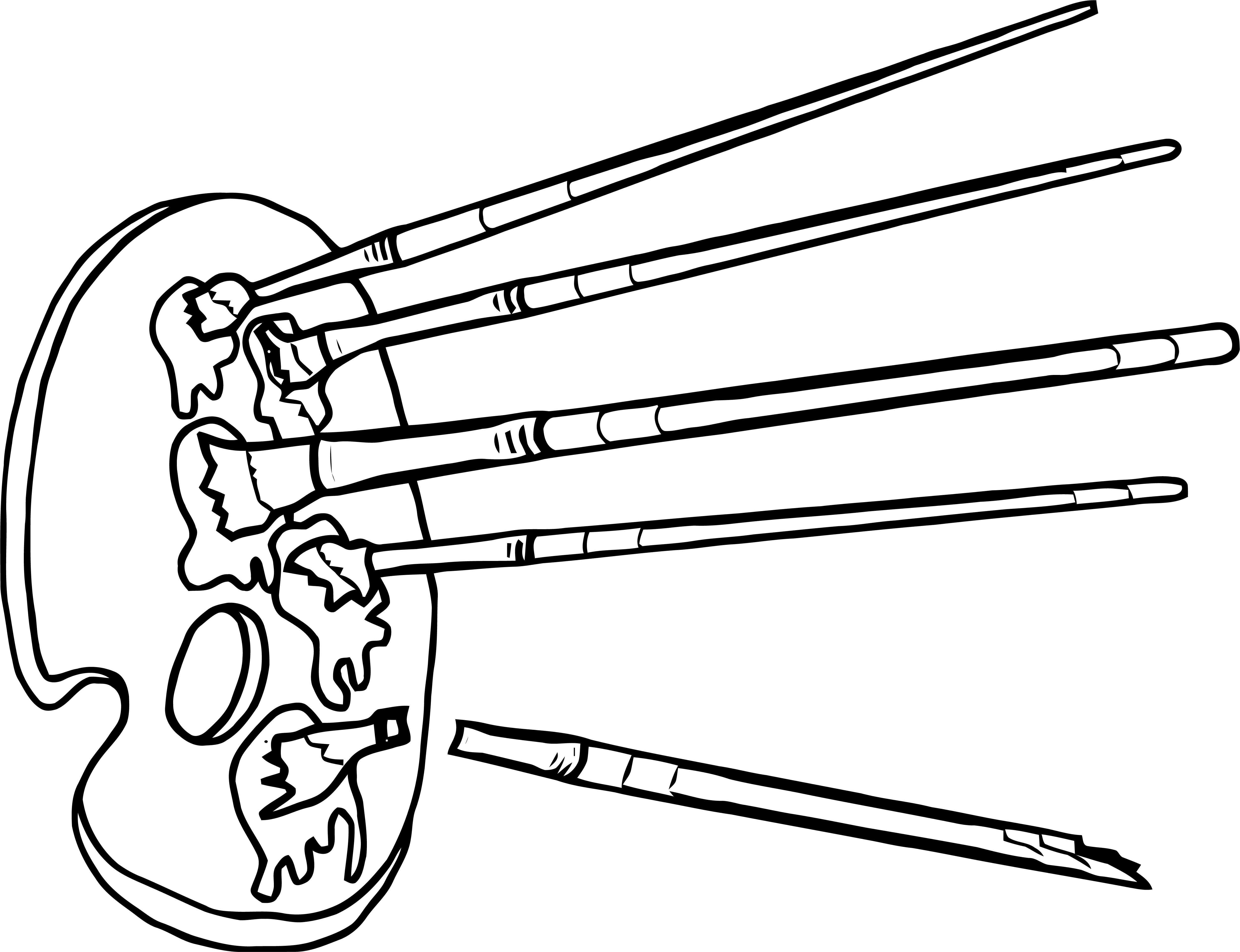 Painter Arrow Coloring Page