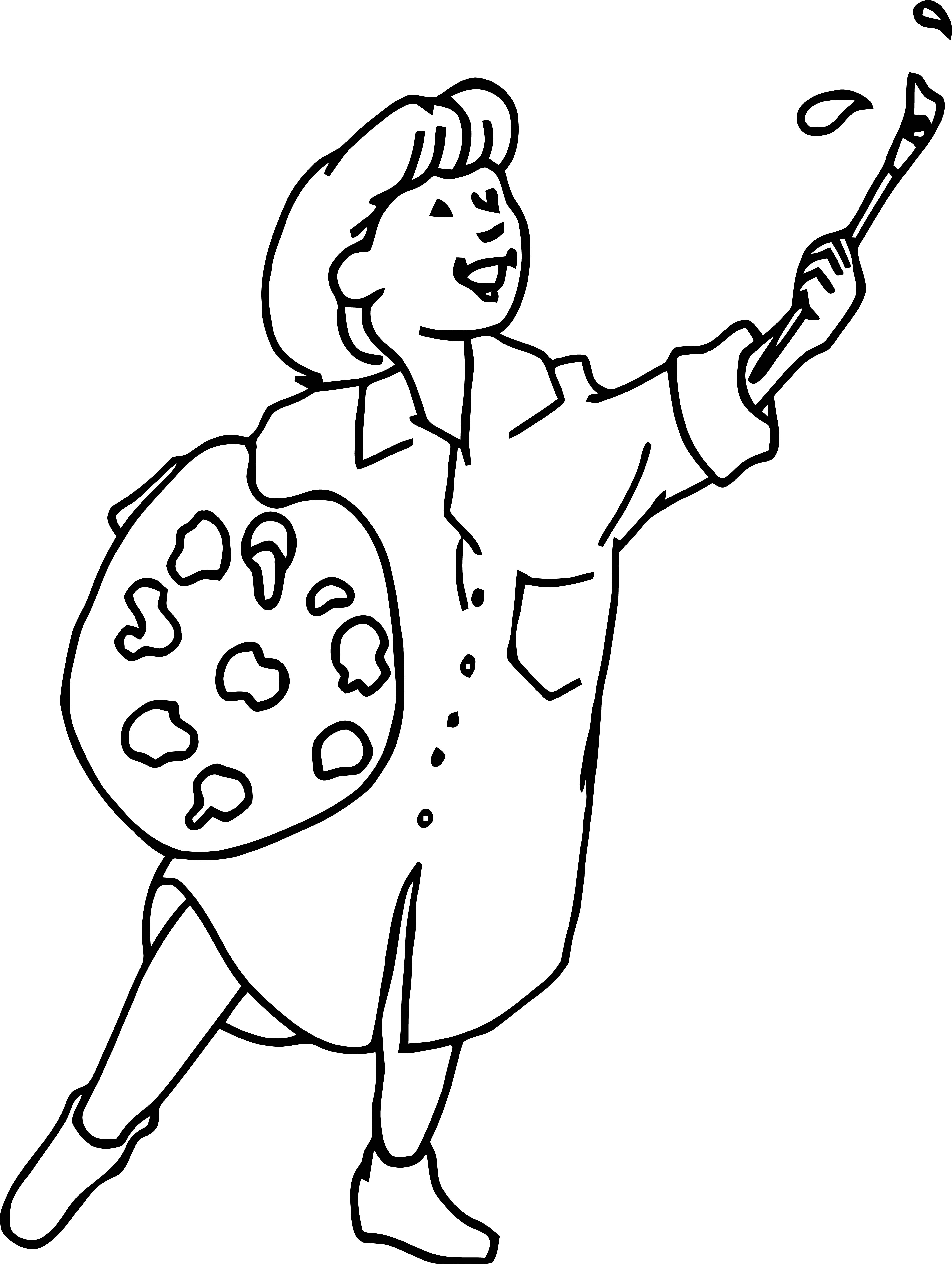 Painter Art Girl Brush Up Coloring Page