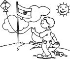 Painter Boy Skye Fly Sun Coloring Page