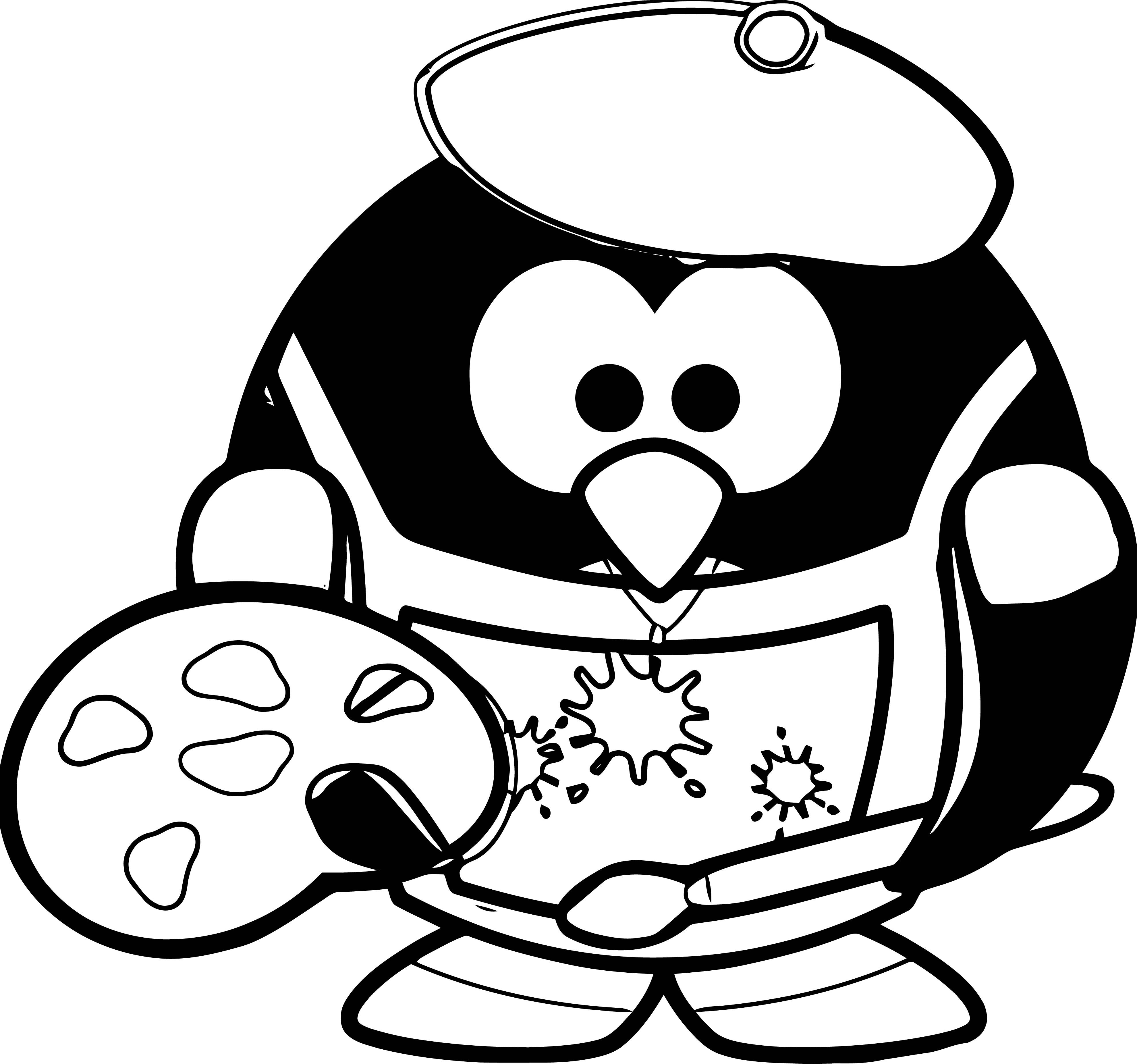 Painter Coloring Page 06