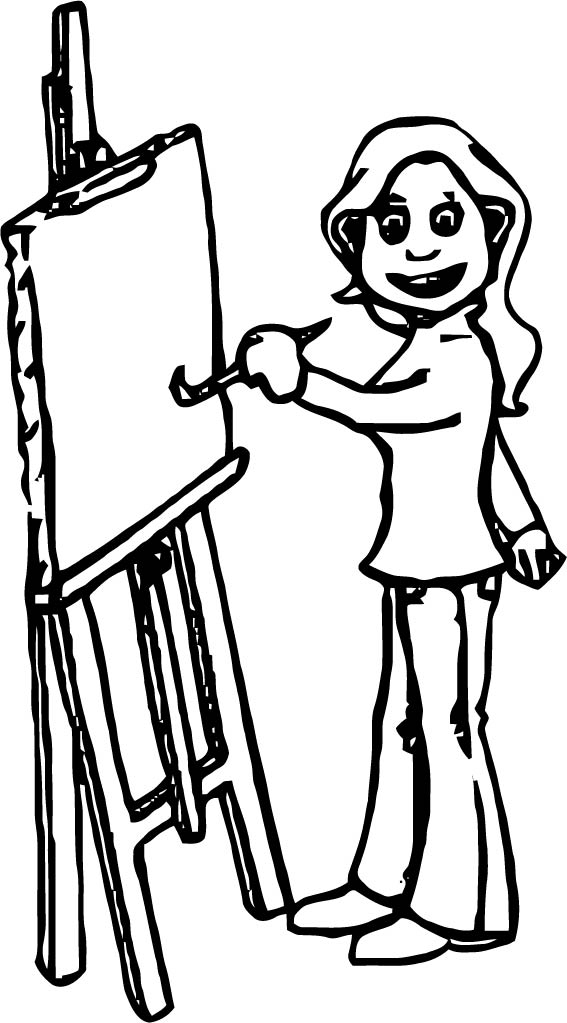 Painter Coloring Page 08