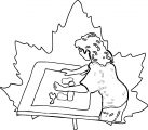 Painter Coloring Page 12