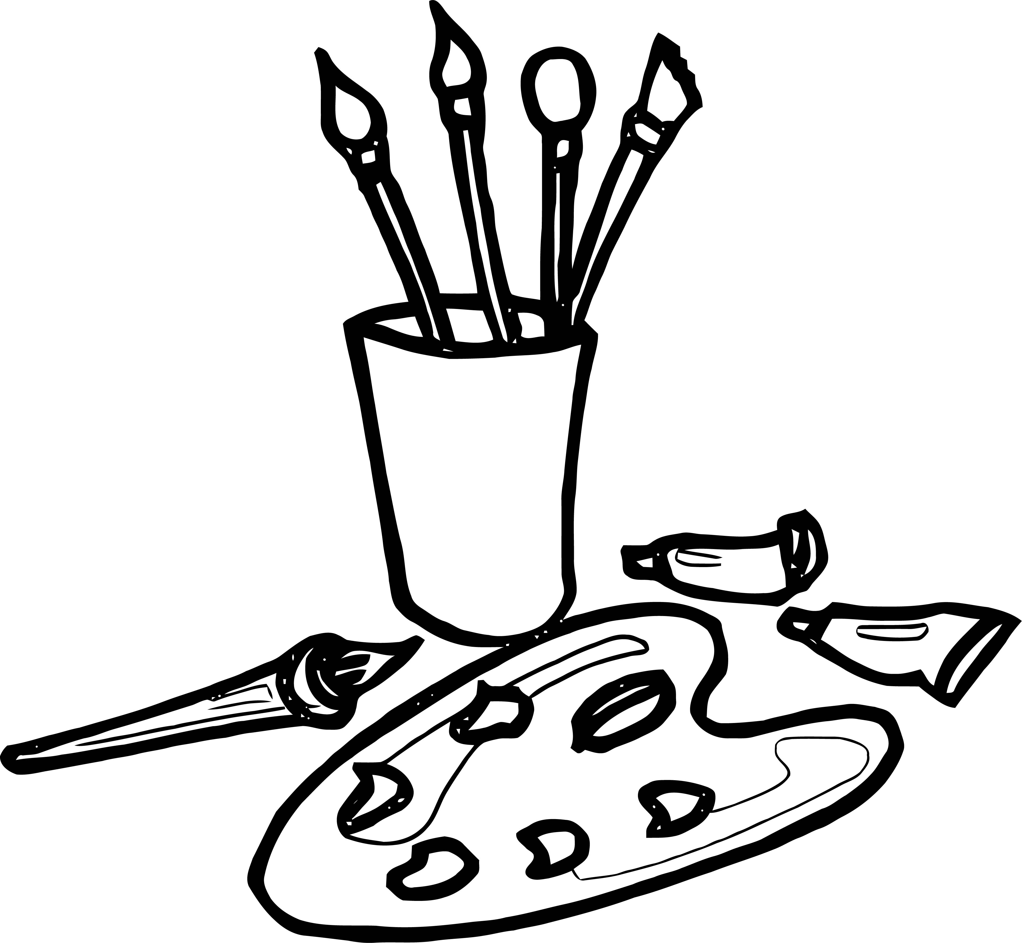 Painter Coloring Page 16