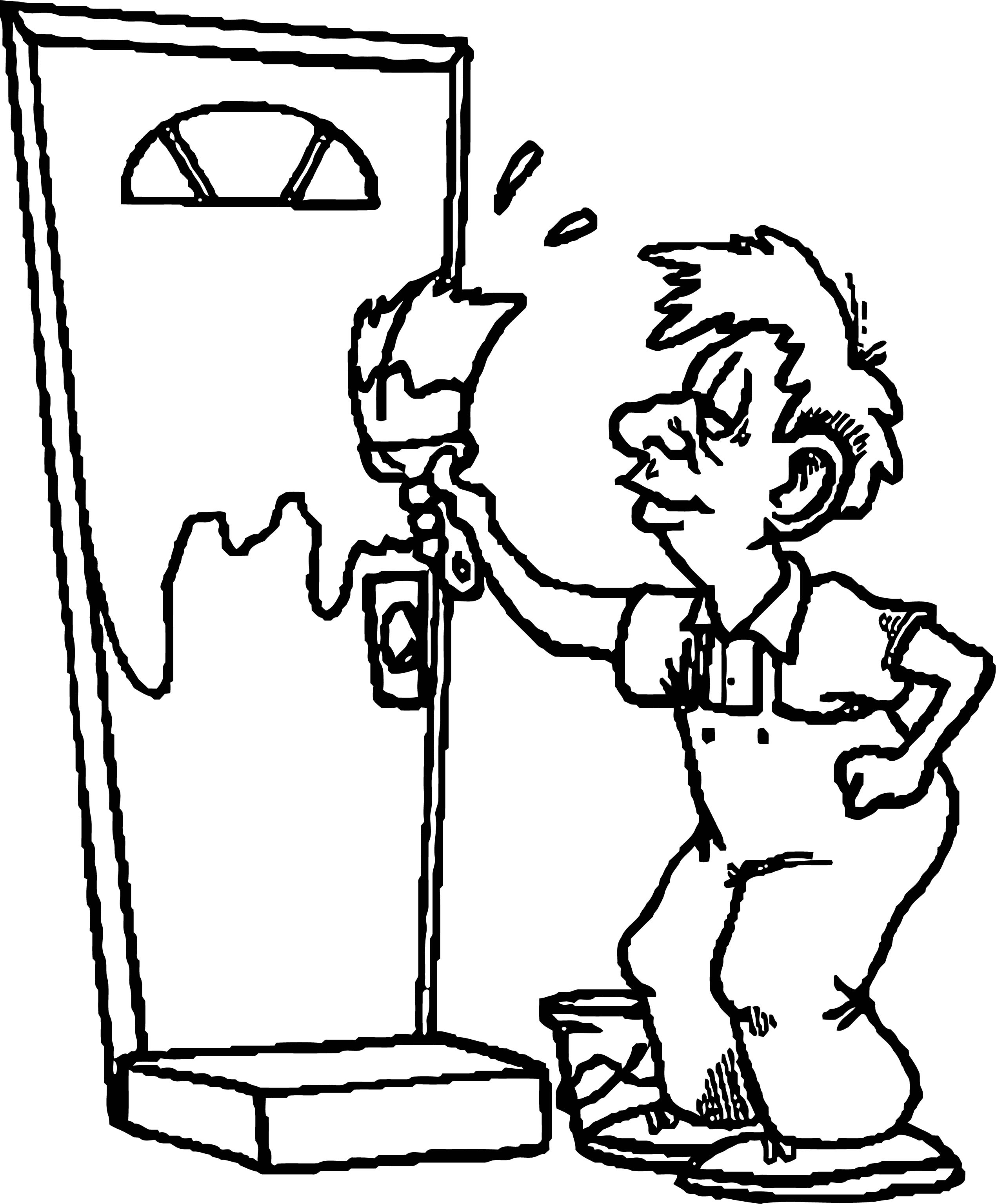 Painter Door Coloring Page
