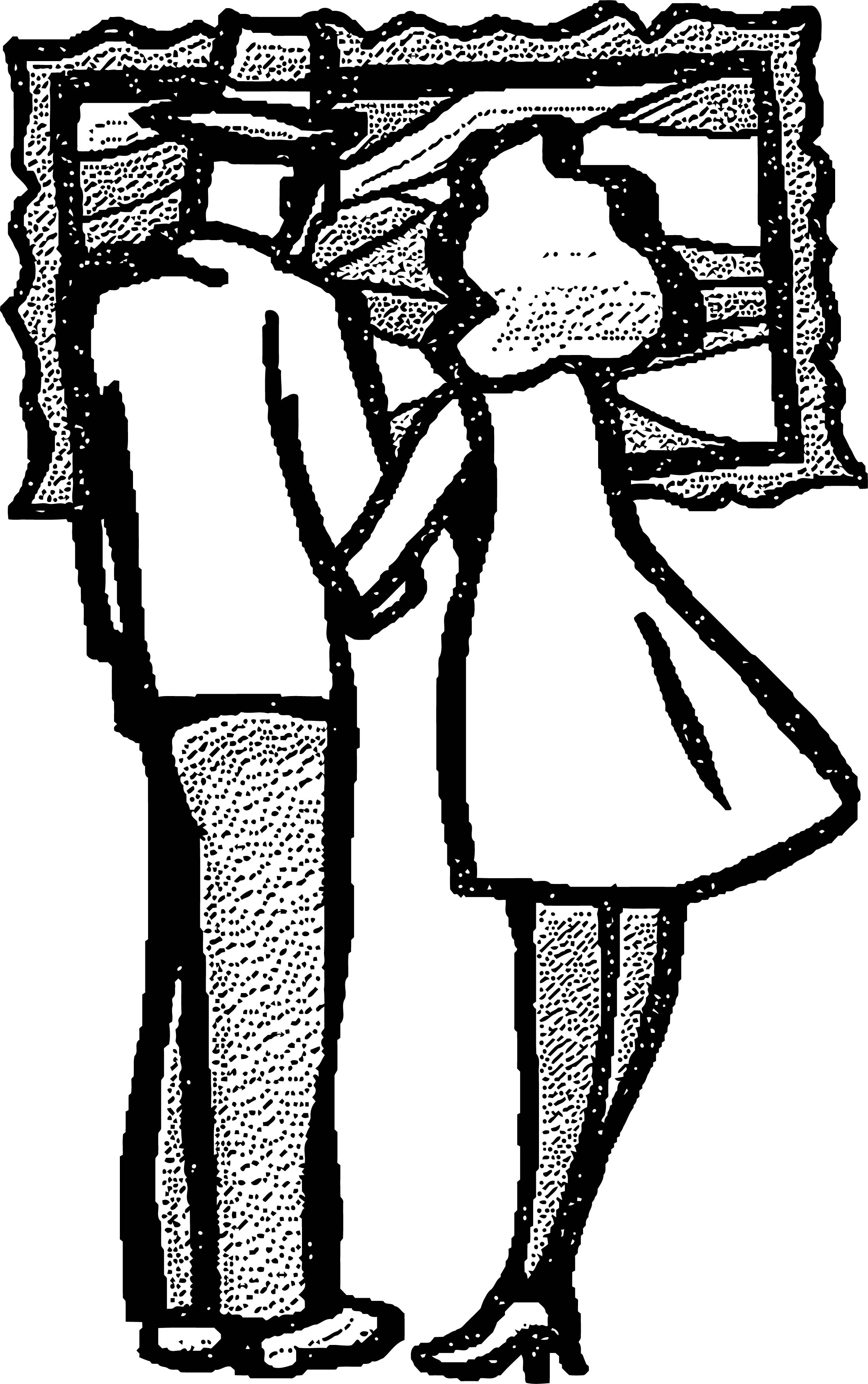 Painter Dot Couple Coloring Page