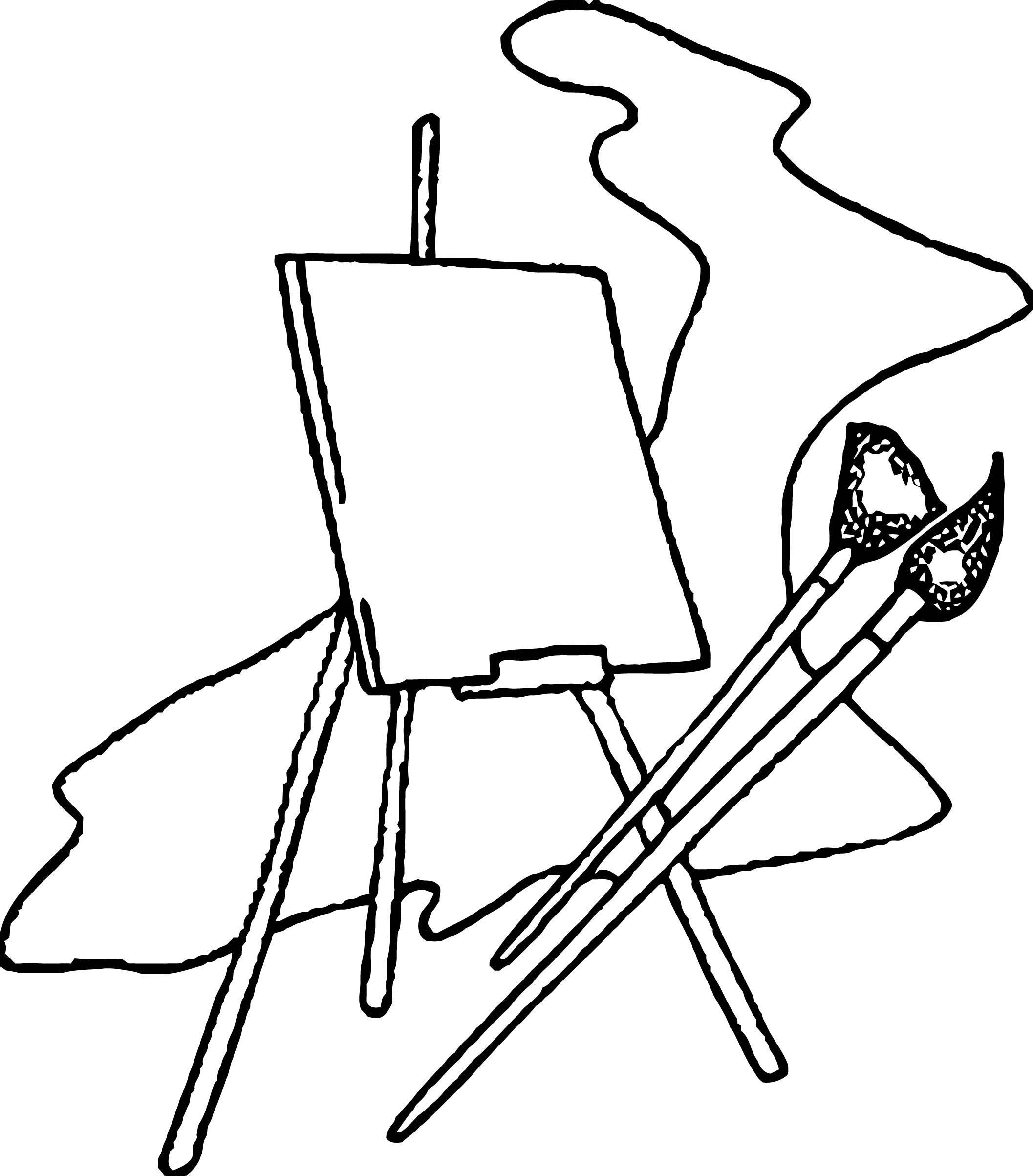 Painter Empty Paint Picture Coloring Page