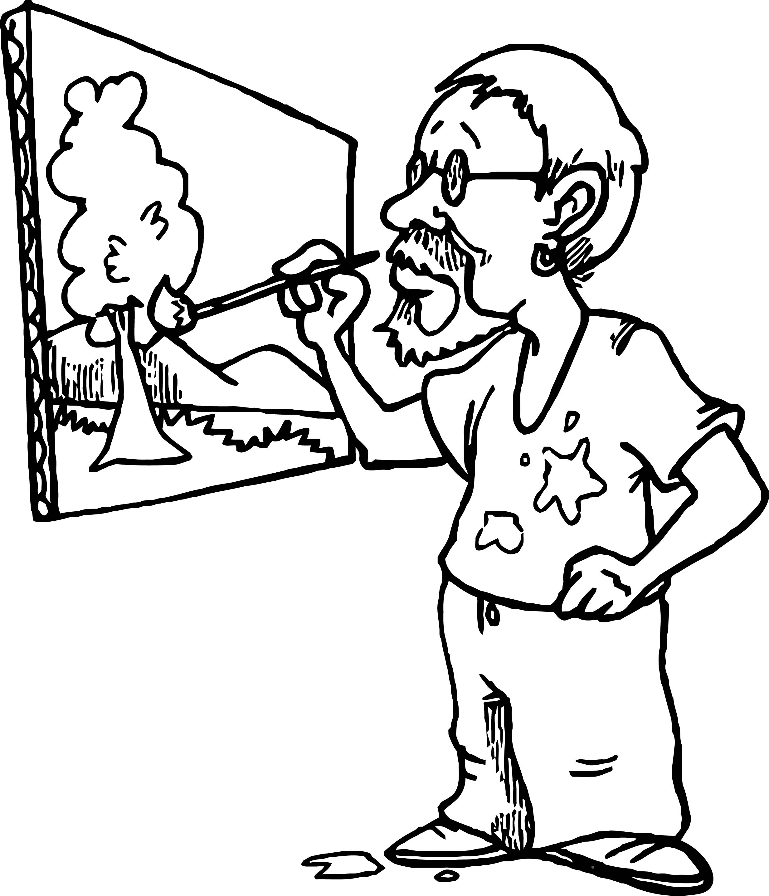 Painter Man Now Making Paint Coloring Page