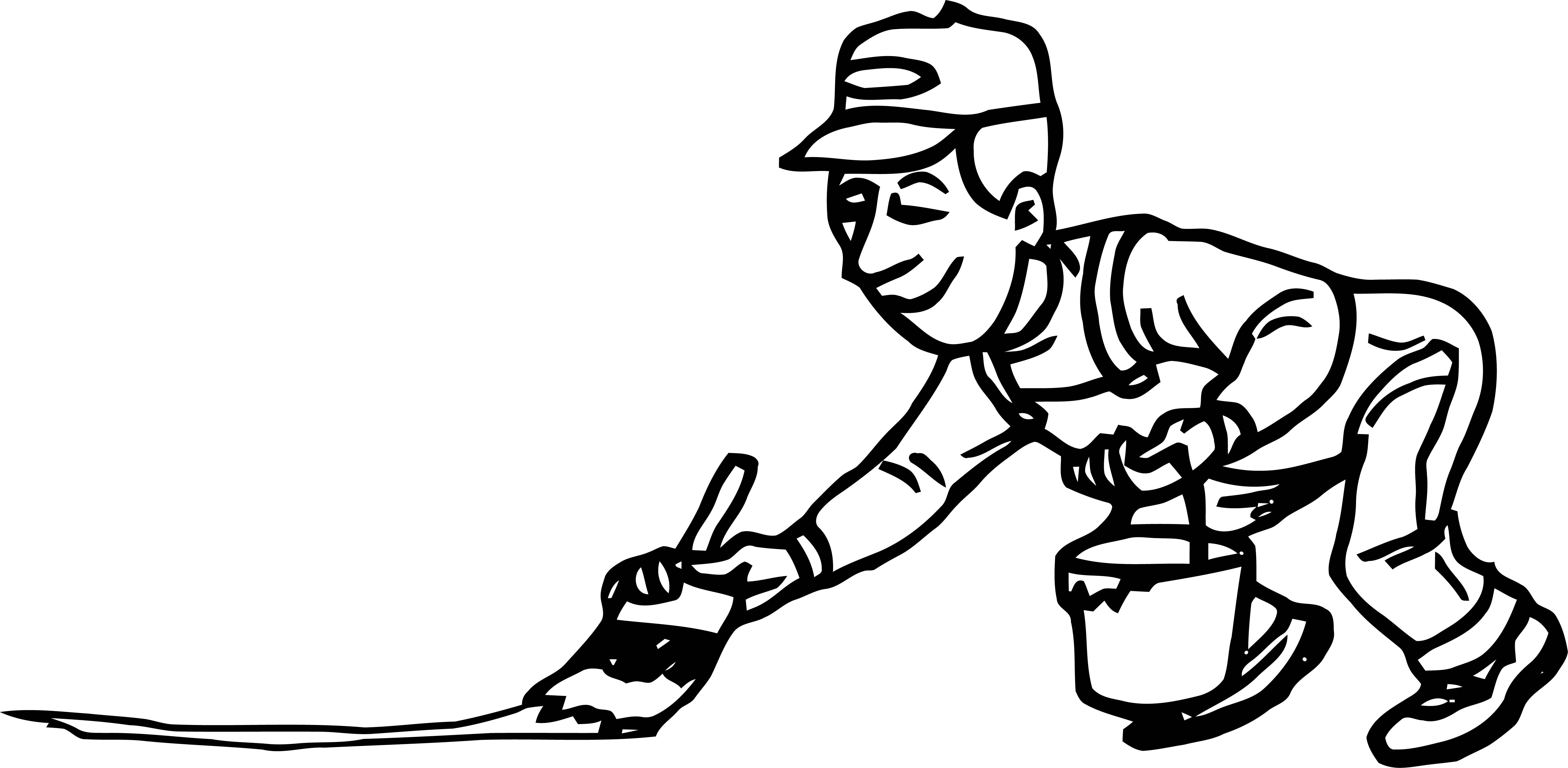 Painter Paint Floor Man Coloring Page