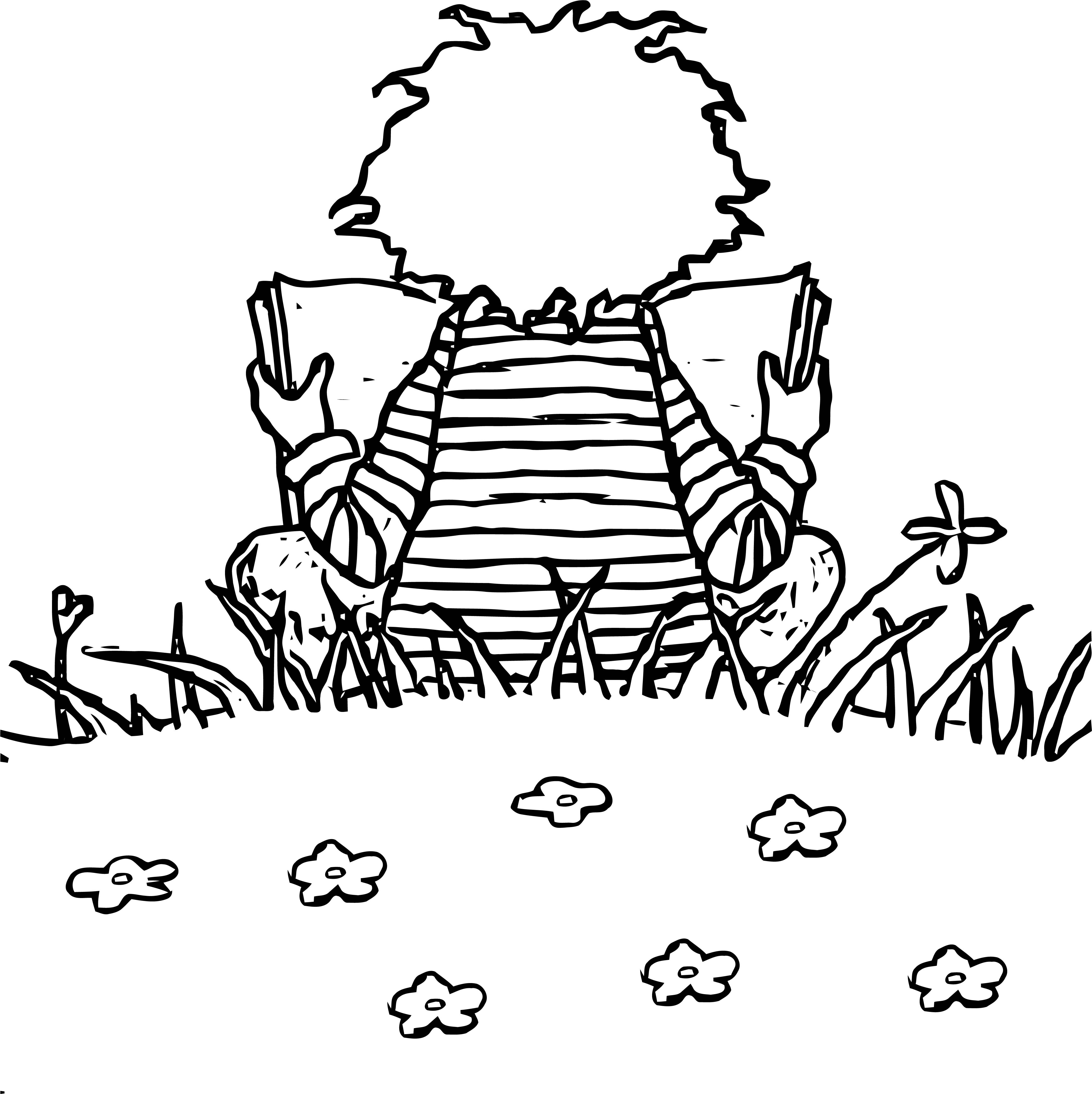 Painter Read Book Boy Coloring Page